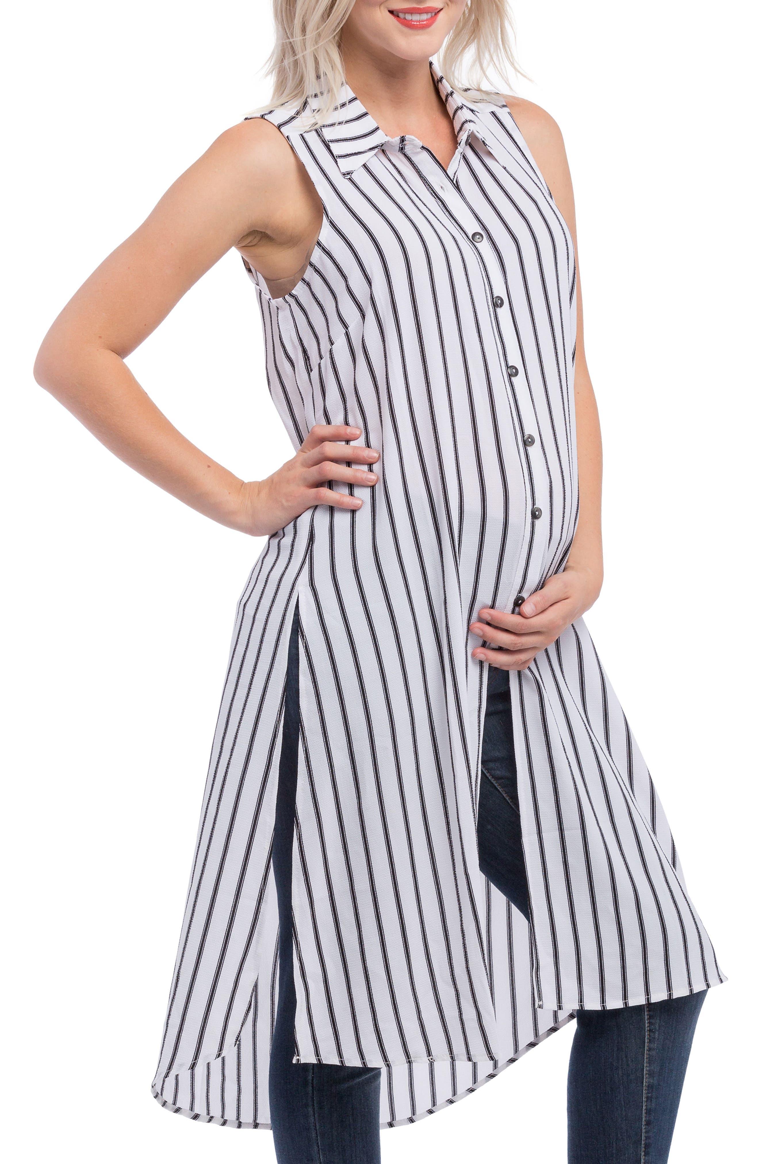 Lilac Clothing Print Maternity Tunic