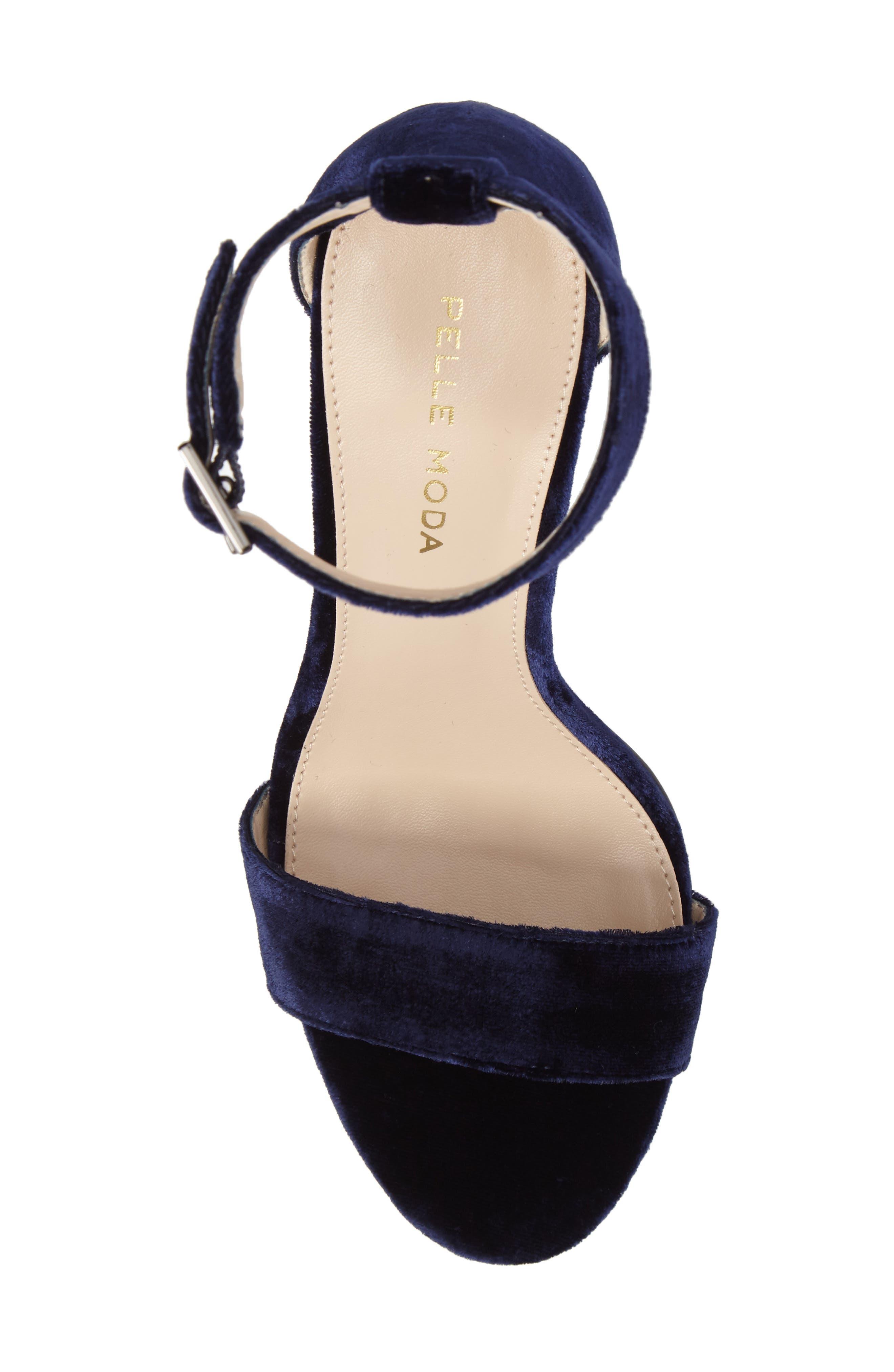 Bonnie Ankle Strap Sandal,                             Alternate thumbnail 5, color,                             Midnight