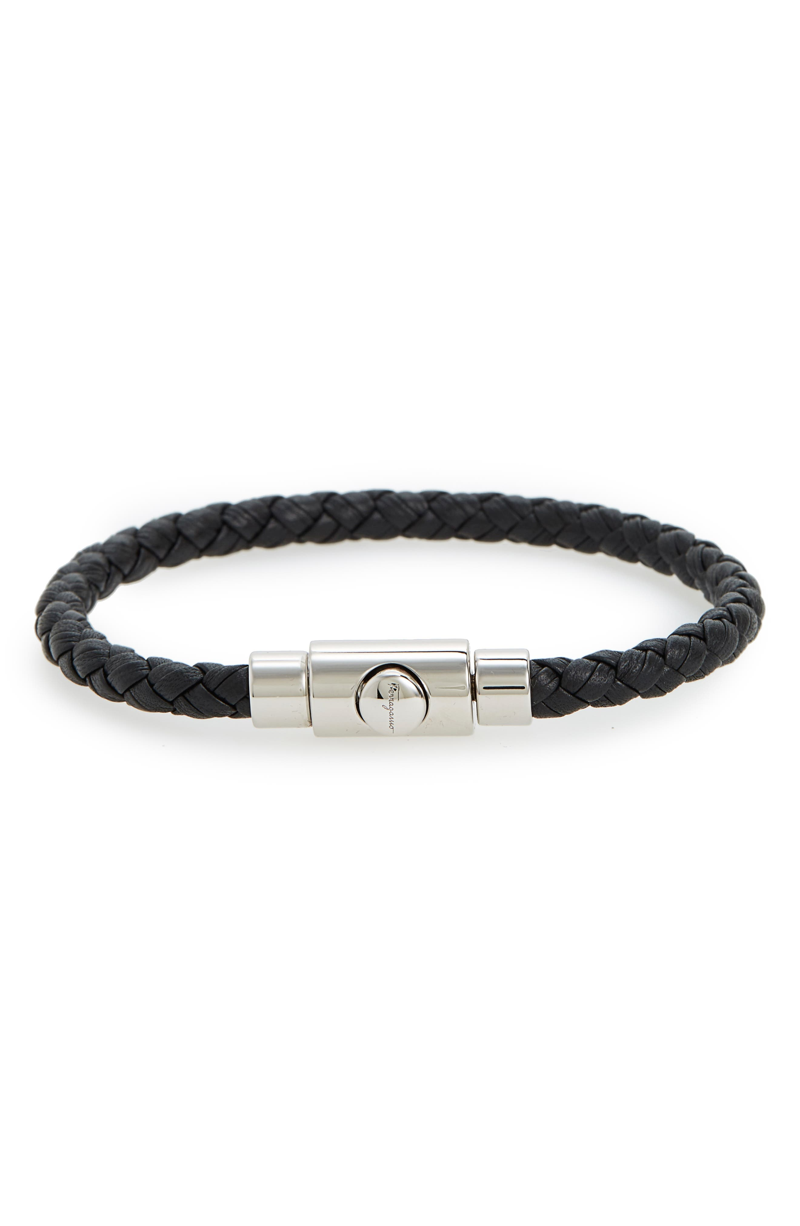Salvatore Ferragamo Braided Leather Bracelet