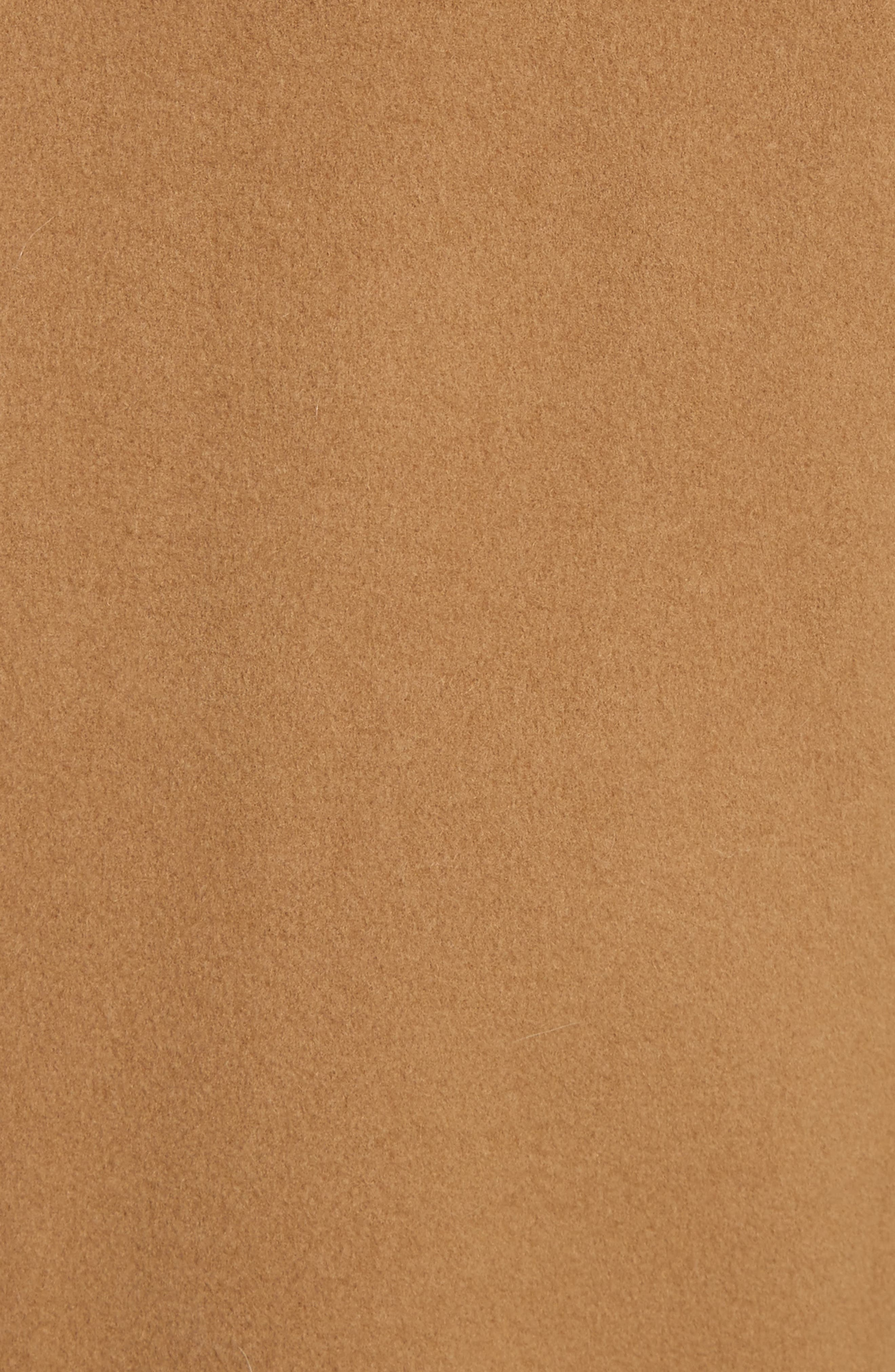 High Collar Long Wool Blend Coat,                             Alternate thumbnail 5, color,                             Camel