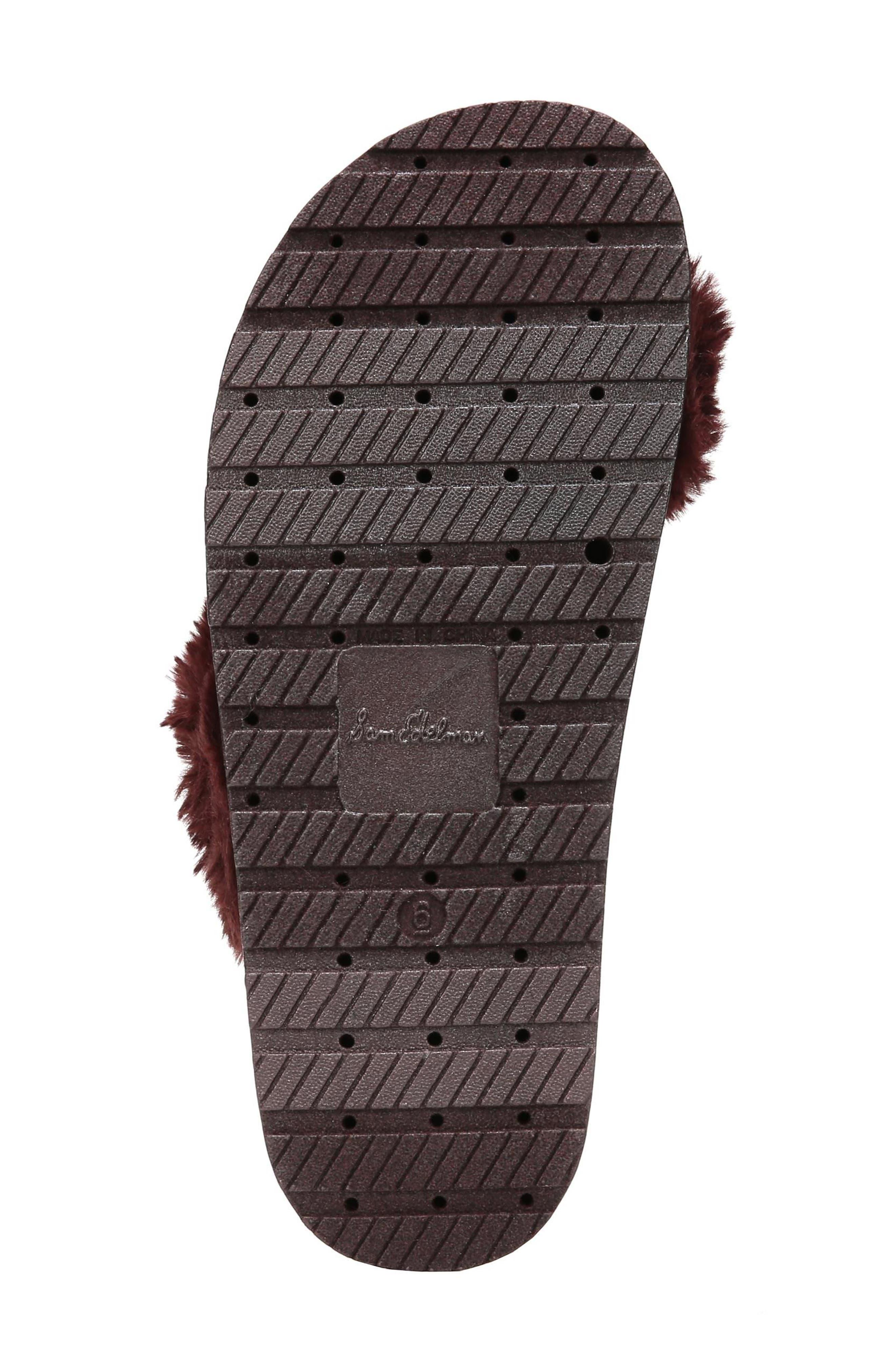 Alternate Image 6  - Sam Edelman Bianca Faux Fur Cross Strap Sandal (Women)