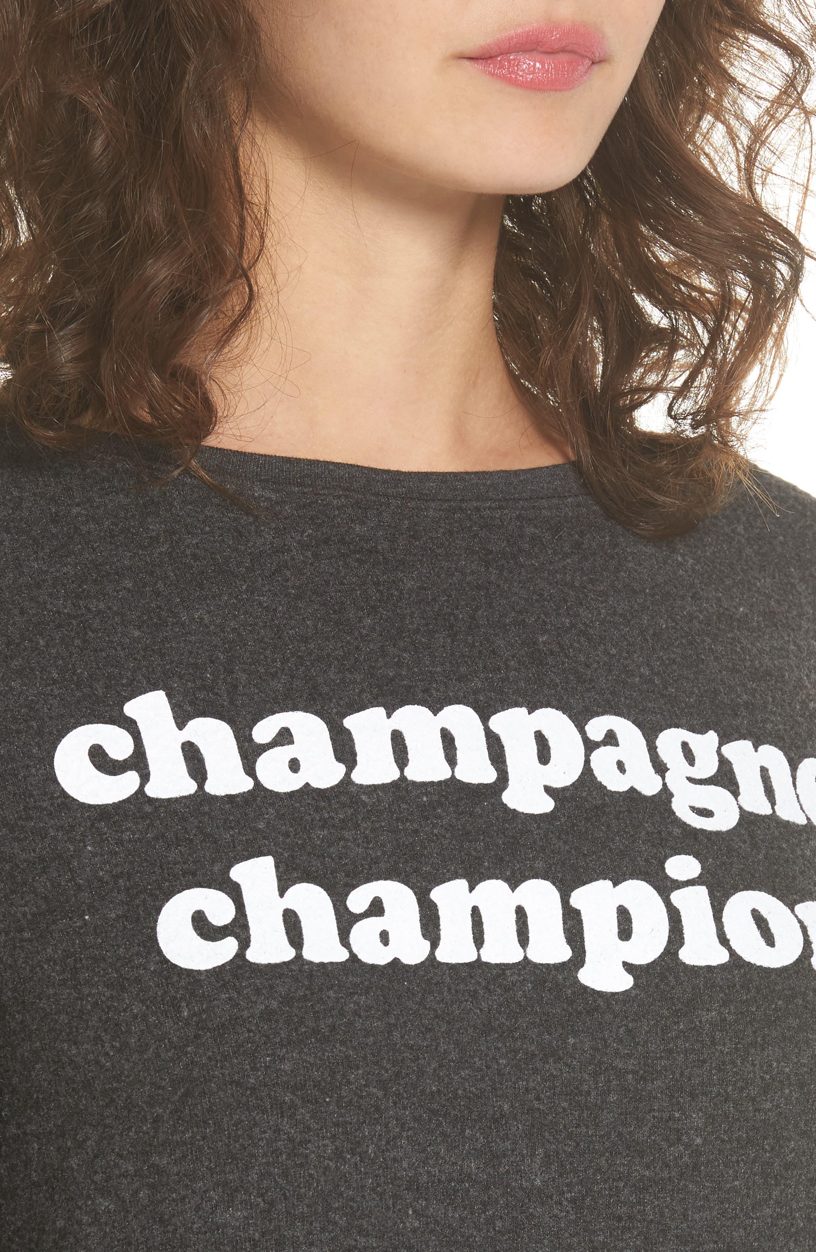 Alternate Image 4  - Dream Scene Champagne Champion Sweatshirt