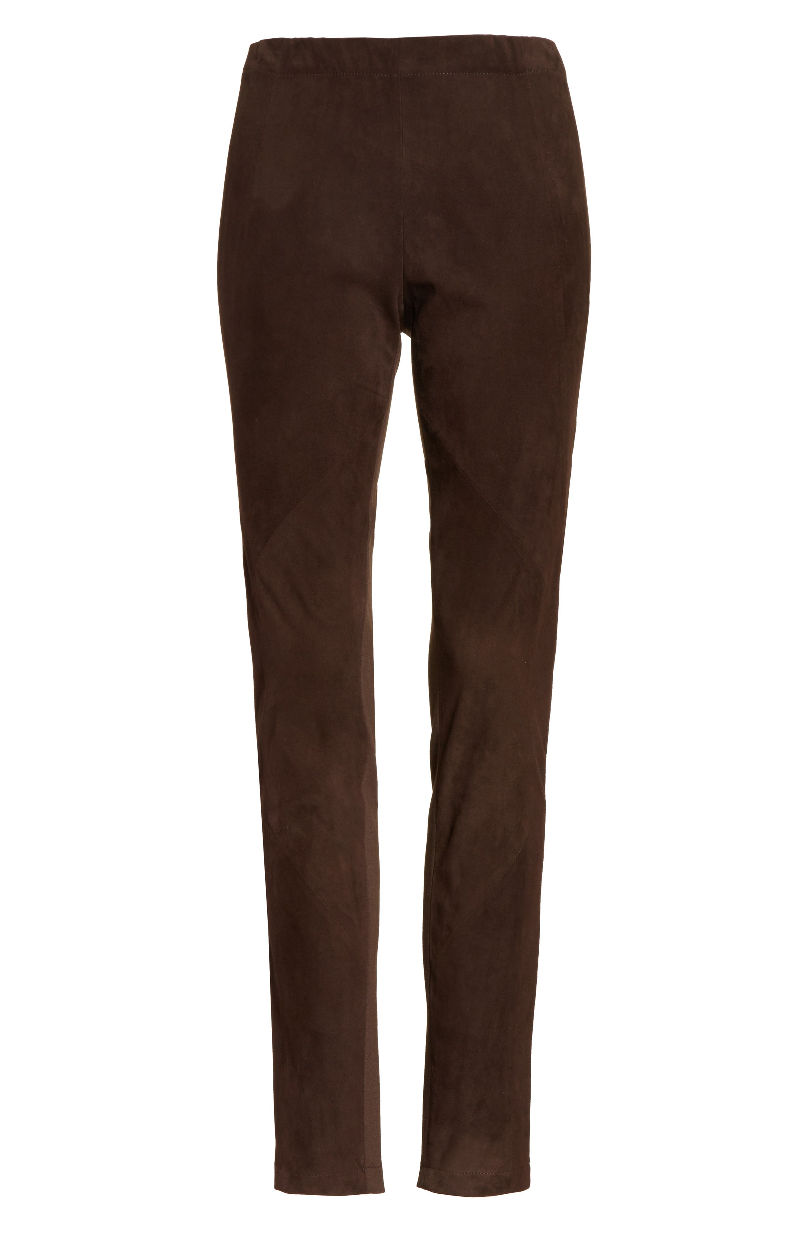 Alternate Image 7  - Lafayette 148 New York Suede Front Punto Milano Riding Leggings