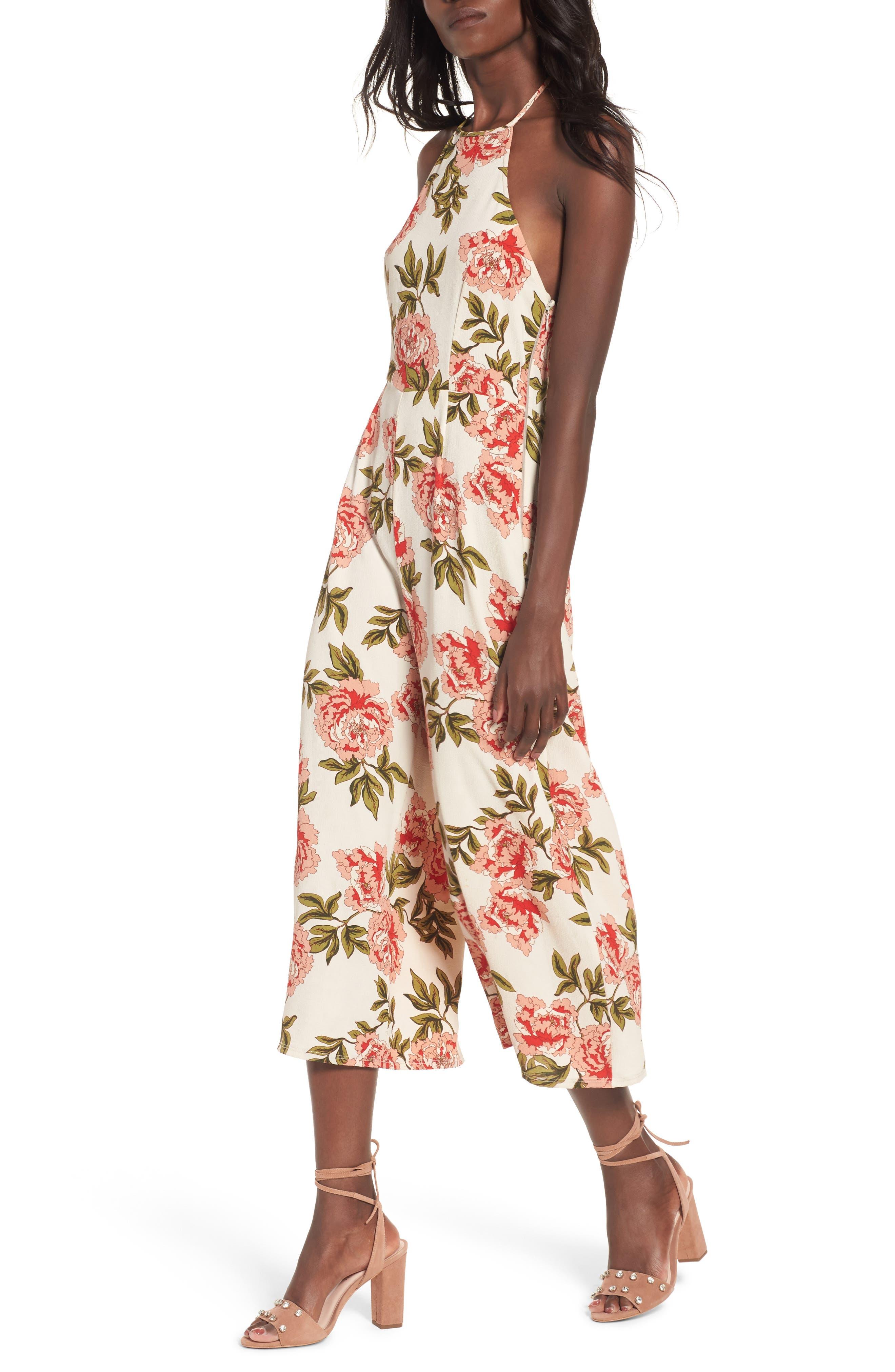 Alternate Image 1 Selected - Show Me Your Mumu Julianne Crop Jumpsuit