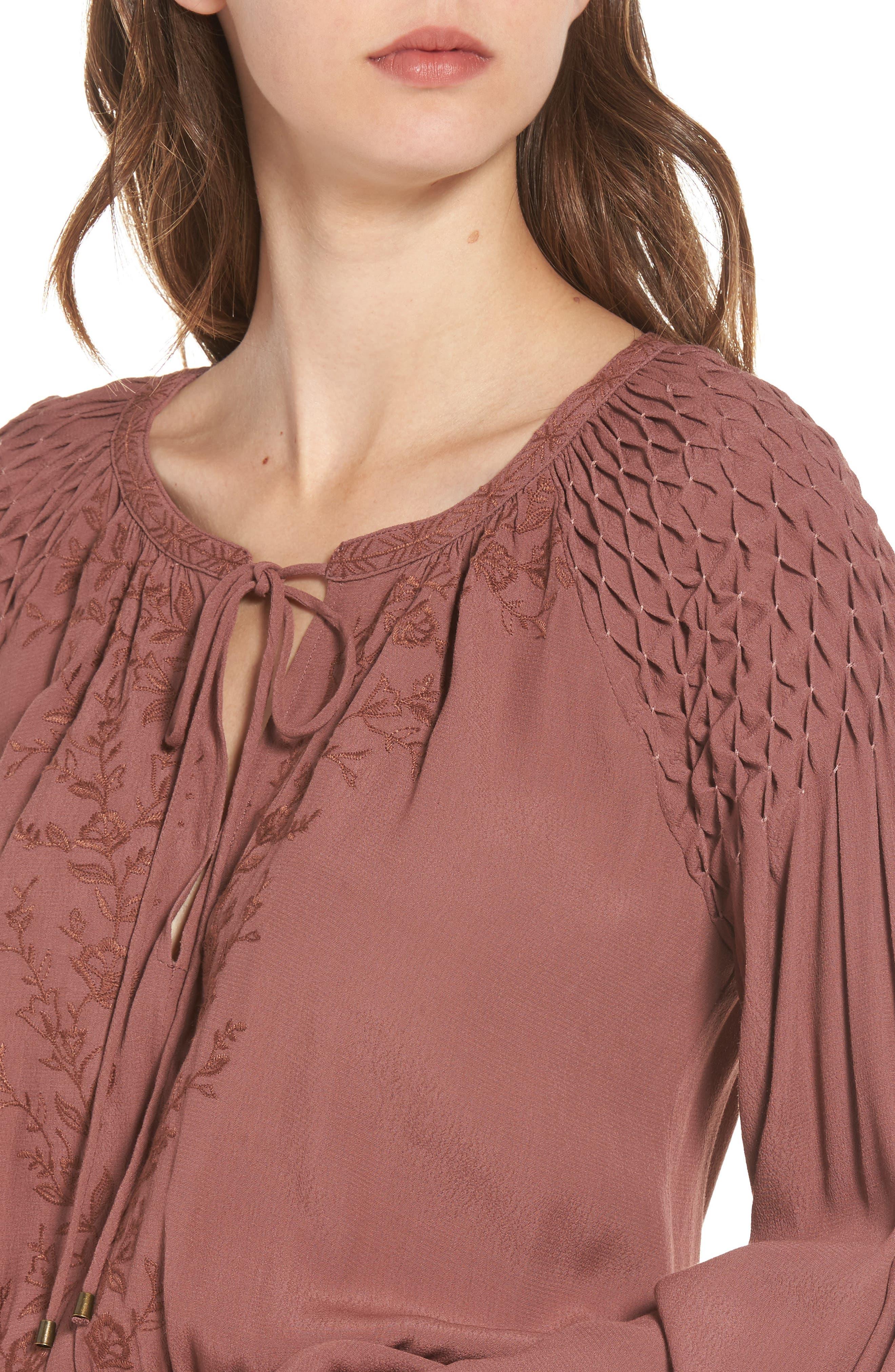 Alternate Image 5  - ASTR the Label Melinda Blouson Dress
