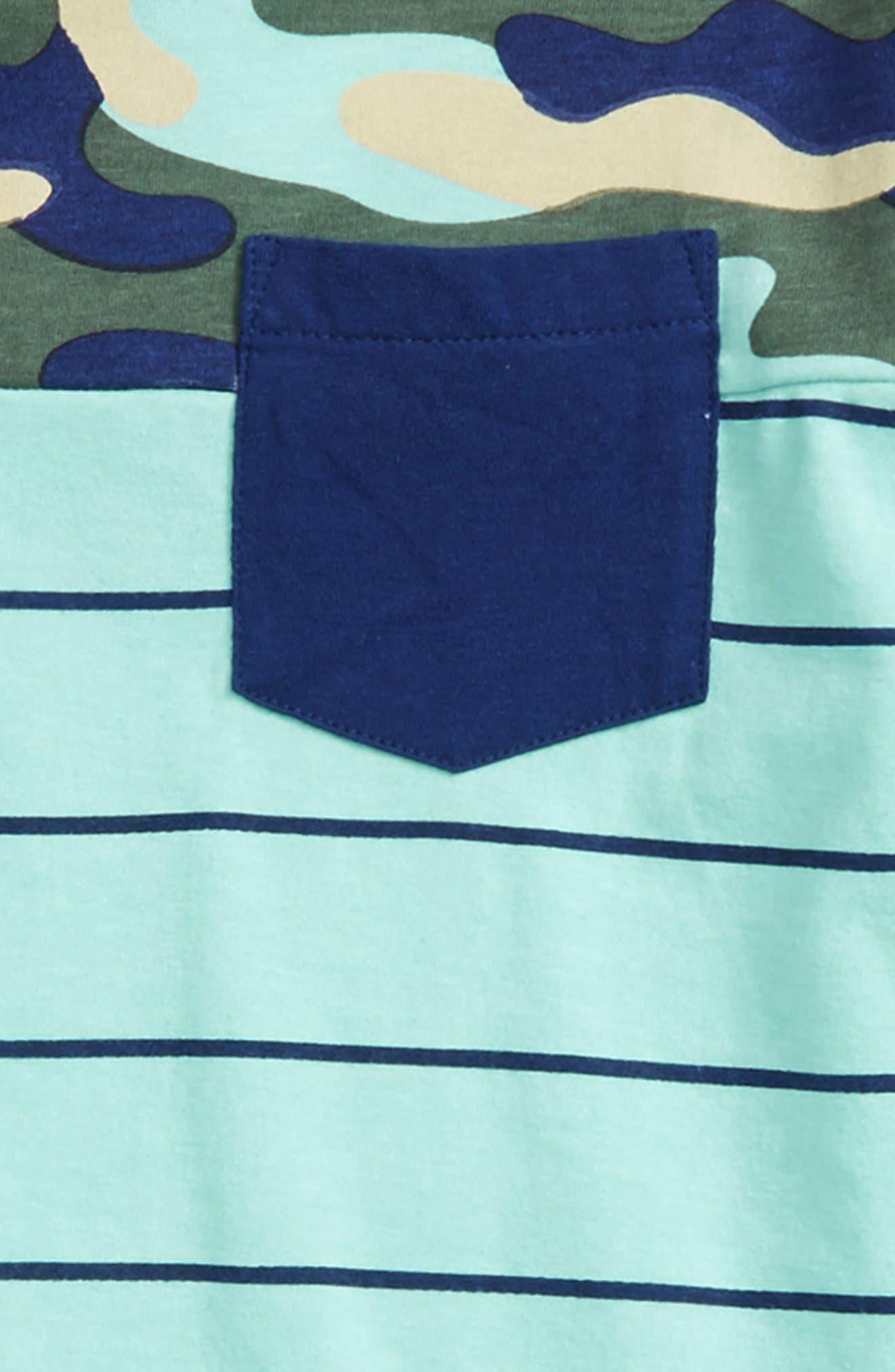 Brett Camo Pocket T-Shirt,                             Alternate thumbnail 2, color,                             Aqua