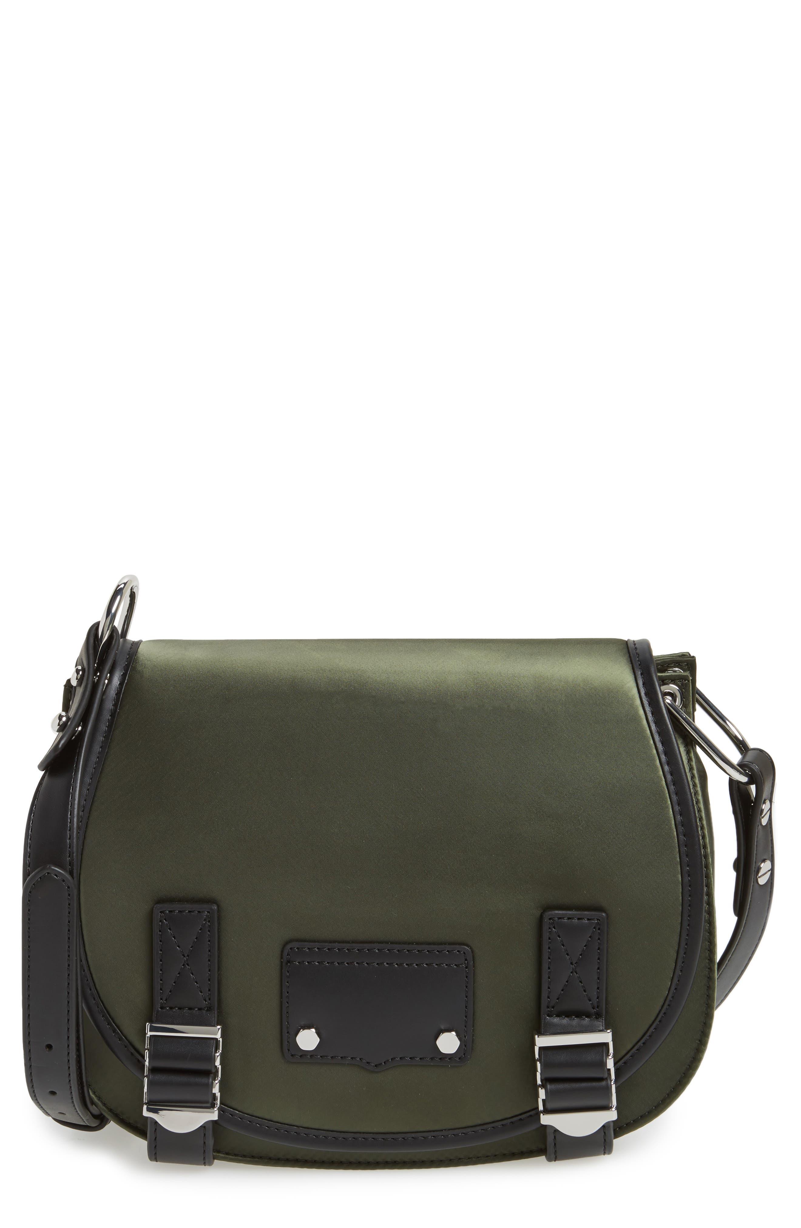Alternate Image 1 Selected - Rebecca Minkoff Military Satin Nylon Saddle Bag