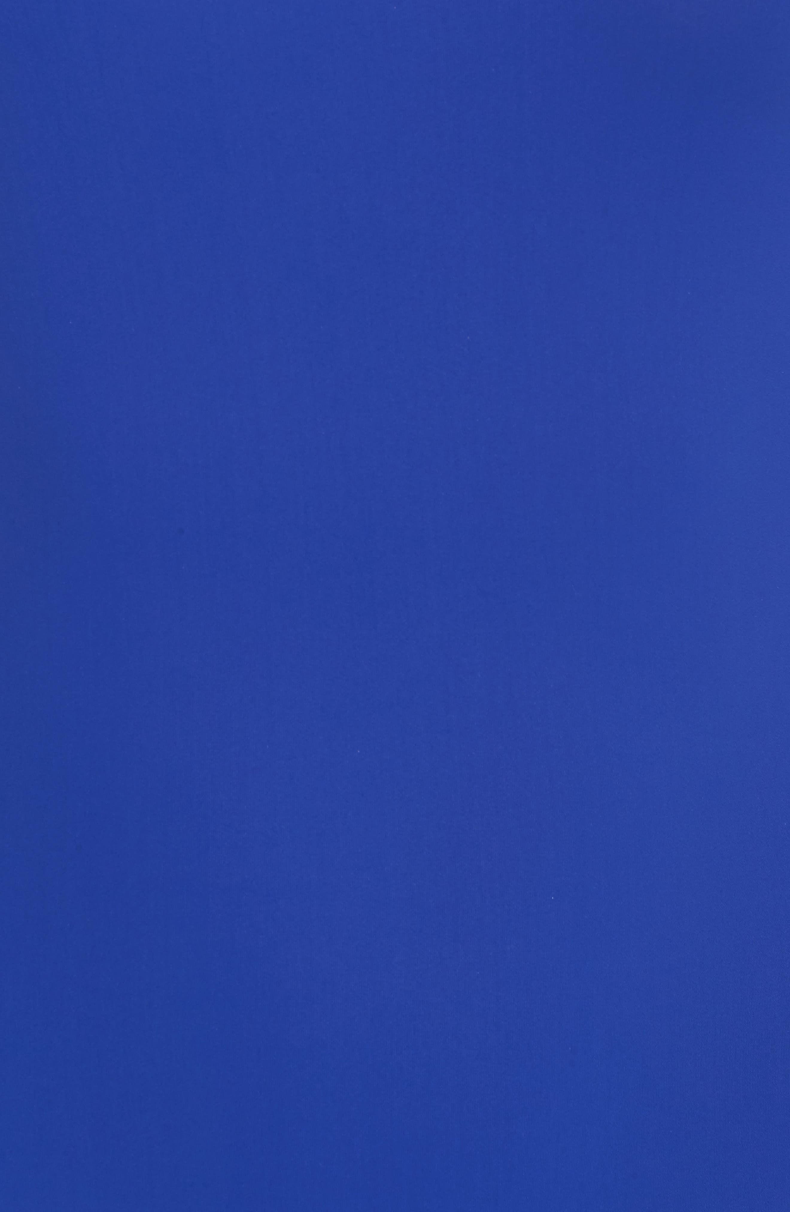 Halter One-Piece Swimsuit,                             Alternate thumbnail 5, color,                             Klein Blue