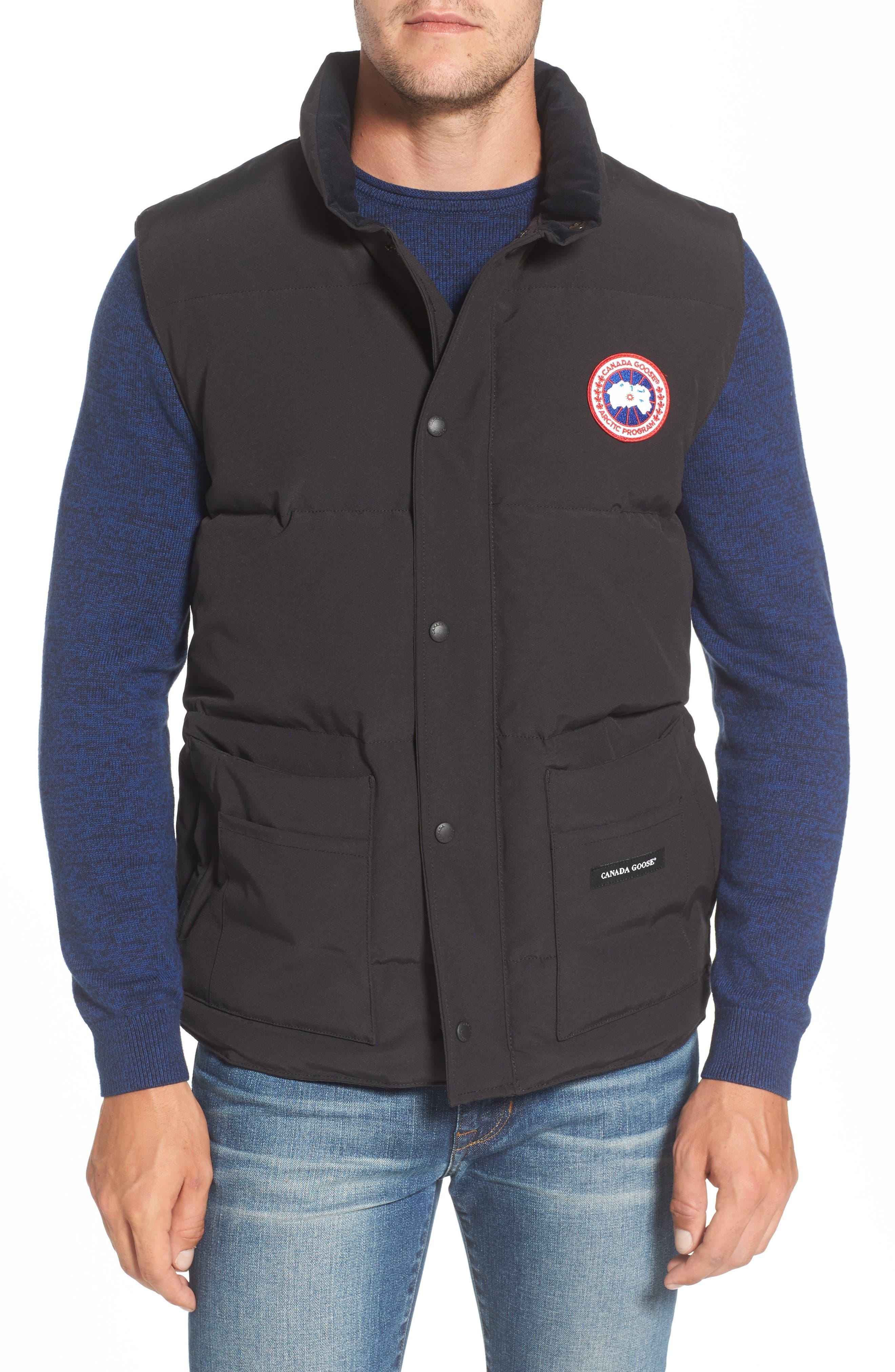 Freestyle Down Vest,                         Main,                         color, Black