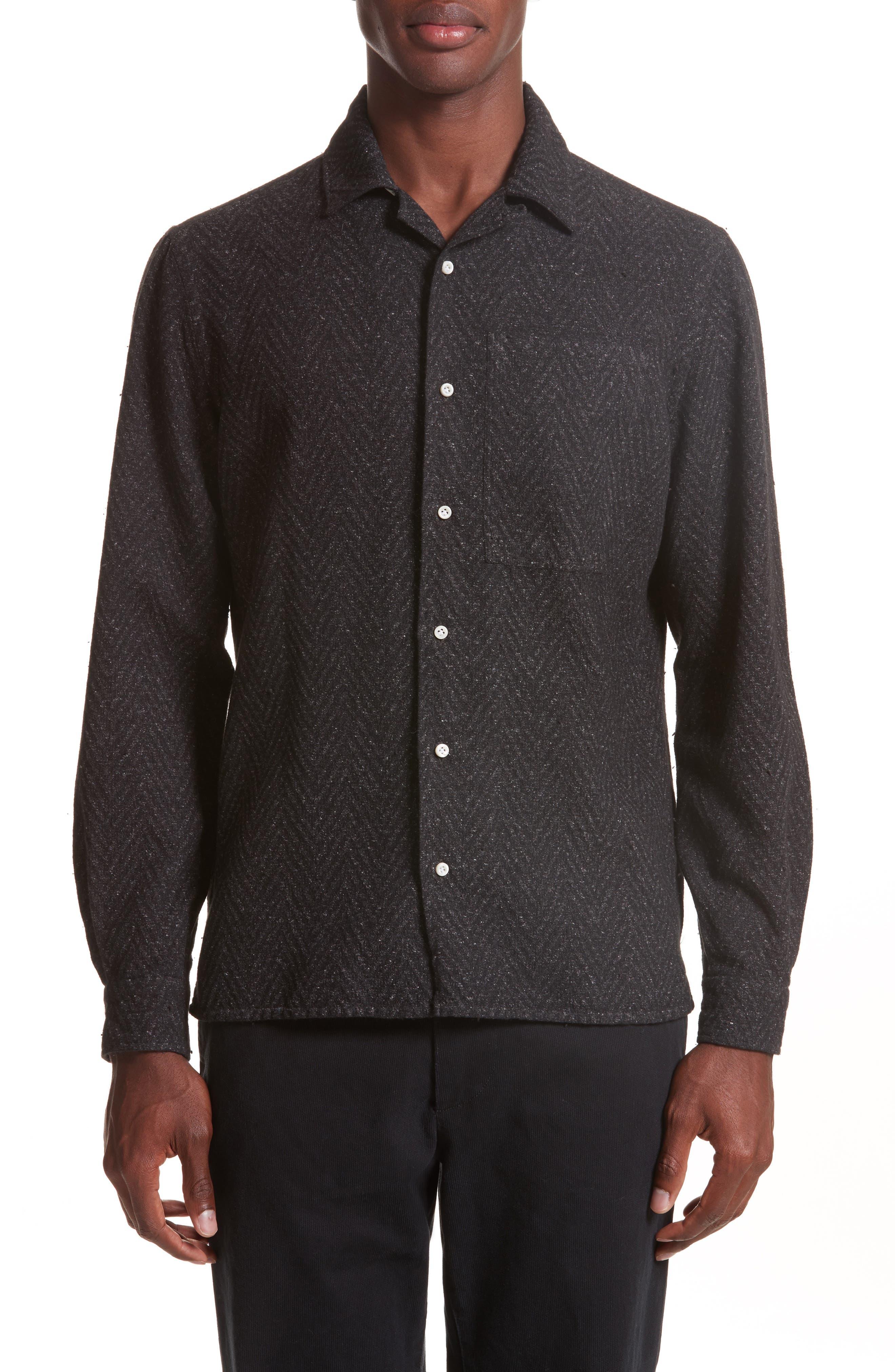 Eidos Napoli Herringbone Texture Shirt