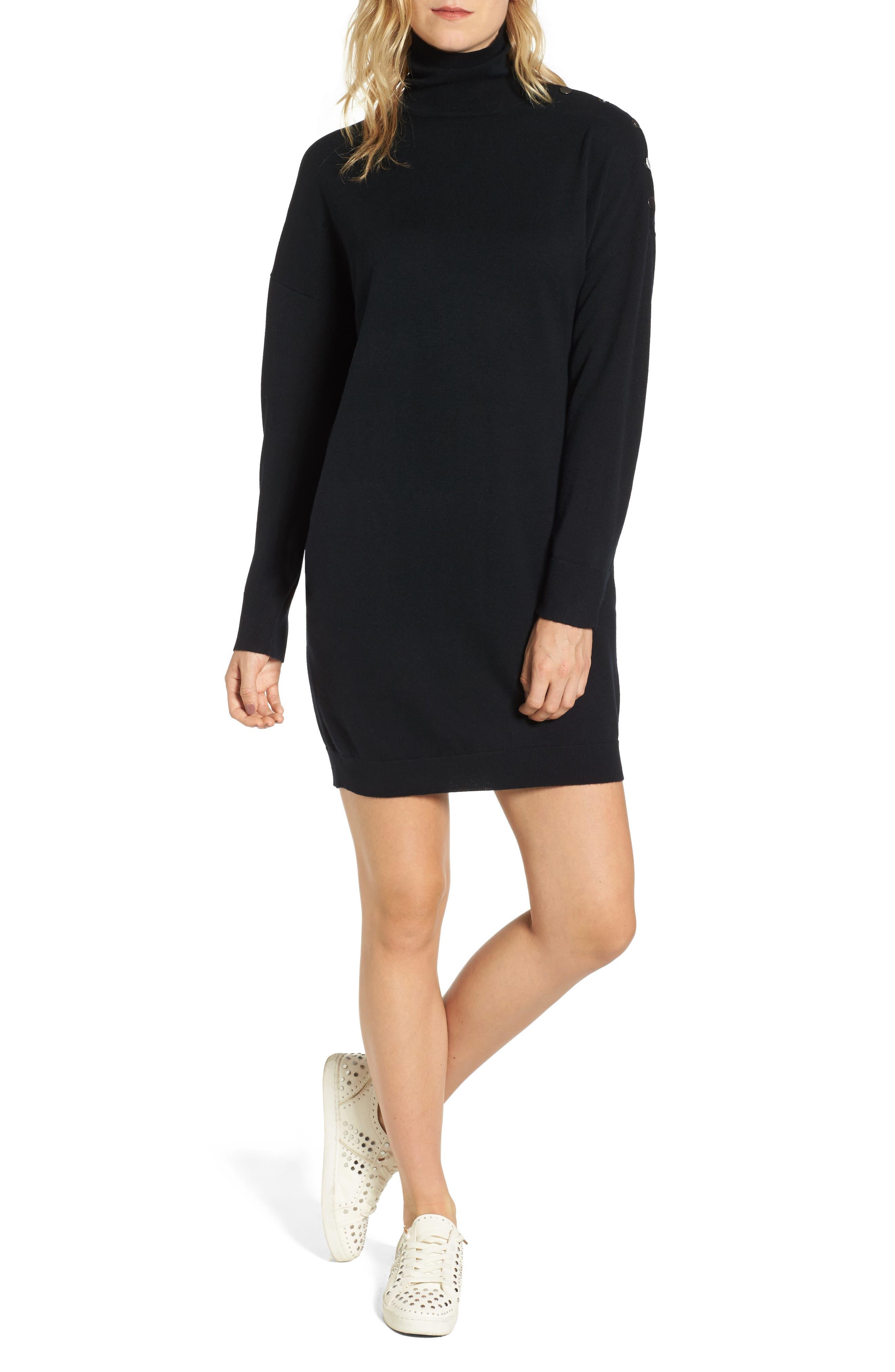 Marissa Sweater Dress,                             Main thumbnail 1, color,                             True Black