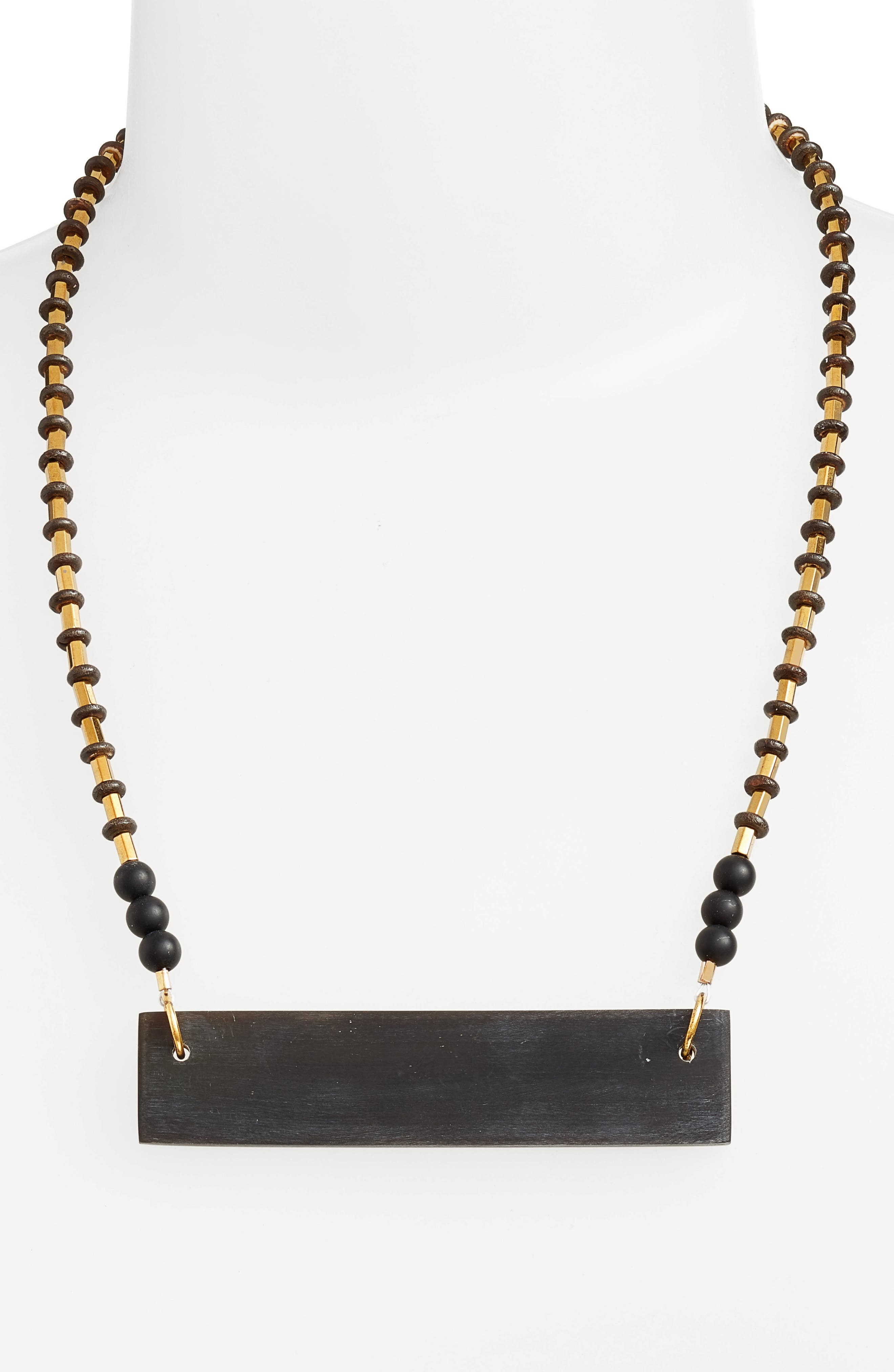 Alternate Image 2  - INK + ALLOY Hathorn Horn Pendant Necklace