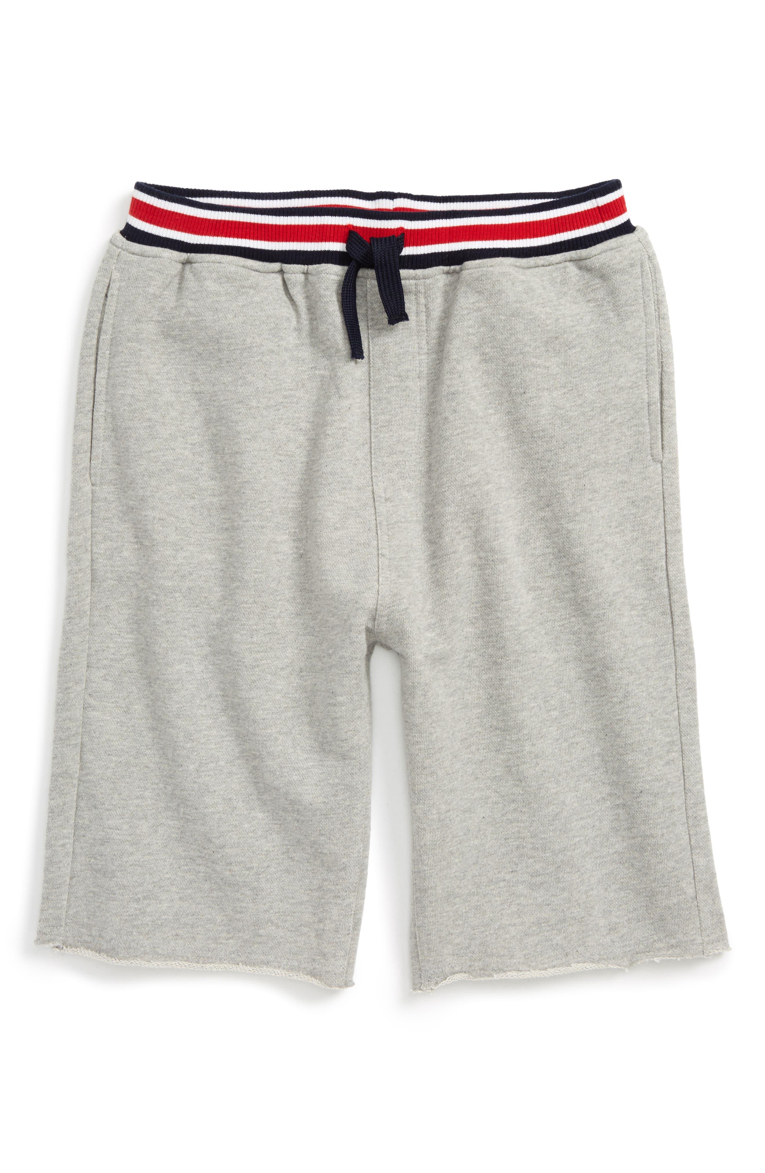 Varsity Knit Shorts,                         Main,                         color, Grey