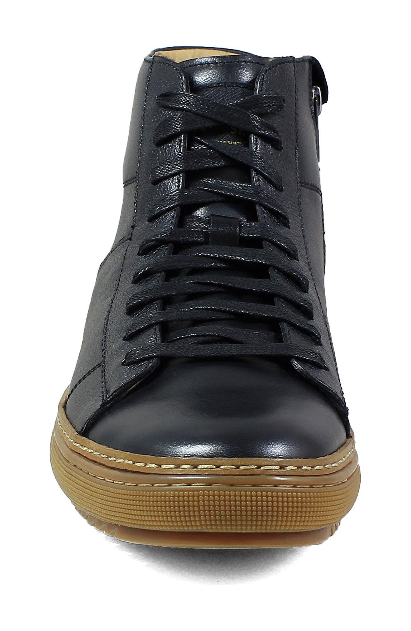 Crew Sneaker,                             Alternate thumbnail 4, color,                             Black