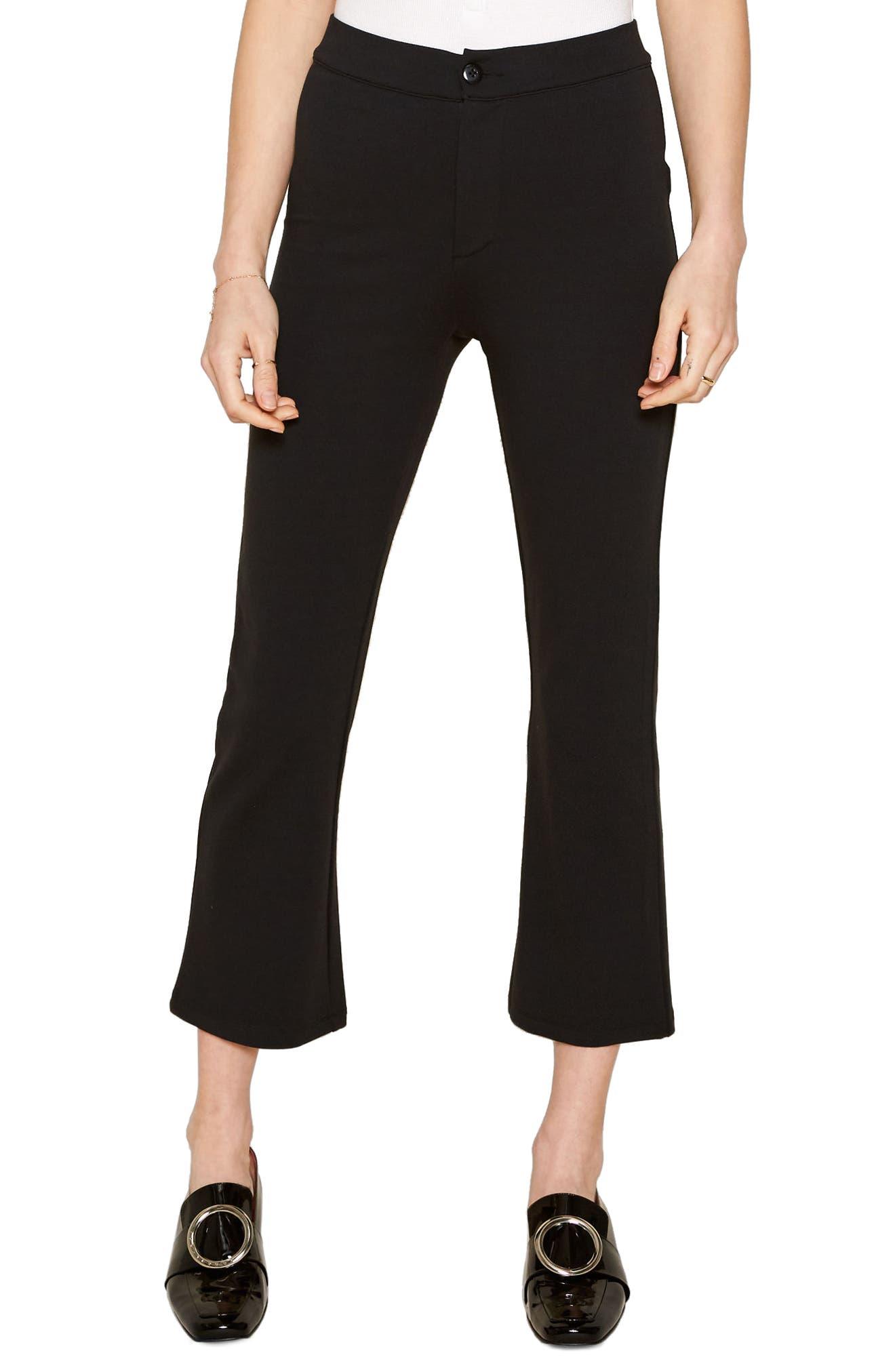 Evening Light Crop Flare Pants,                         Main,                         color, Black Sands