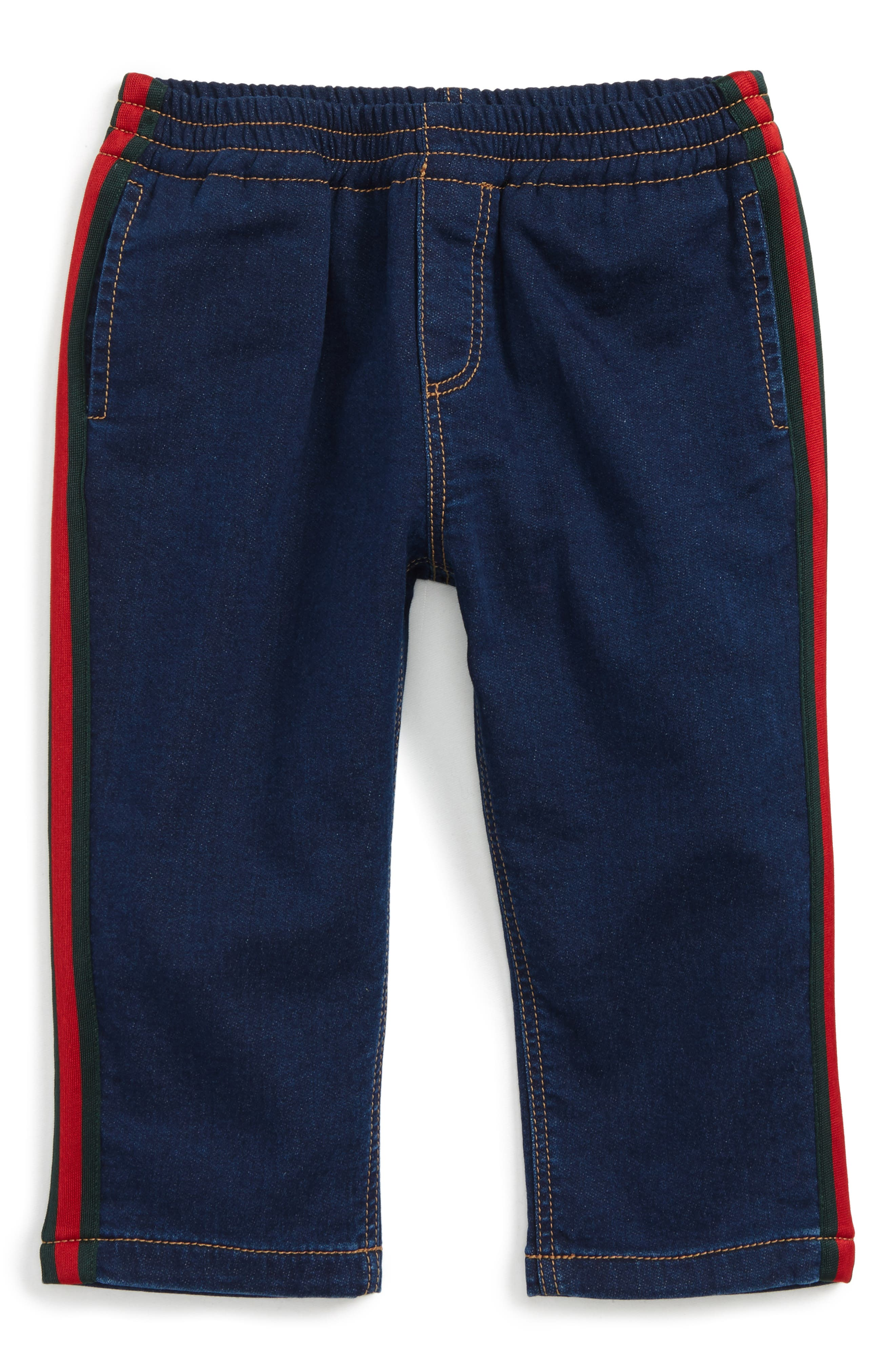 Alternate Image 1 Selected - Gucci Stripe Jeans (Baby Boys)