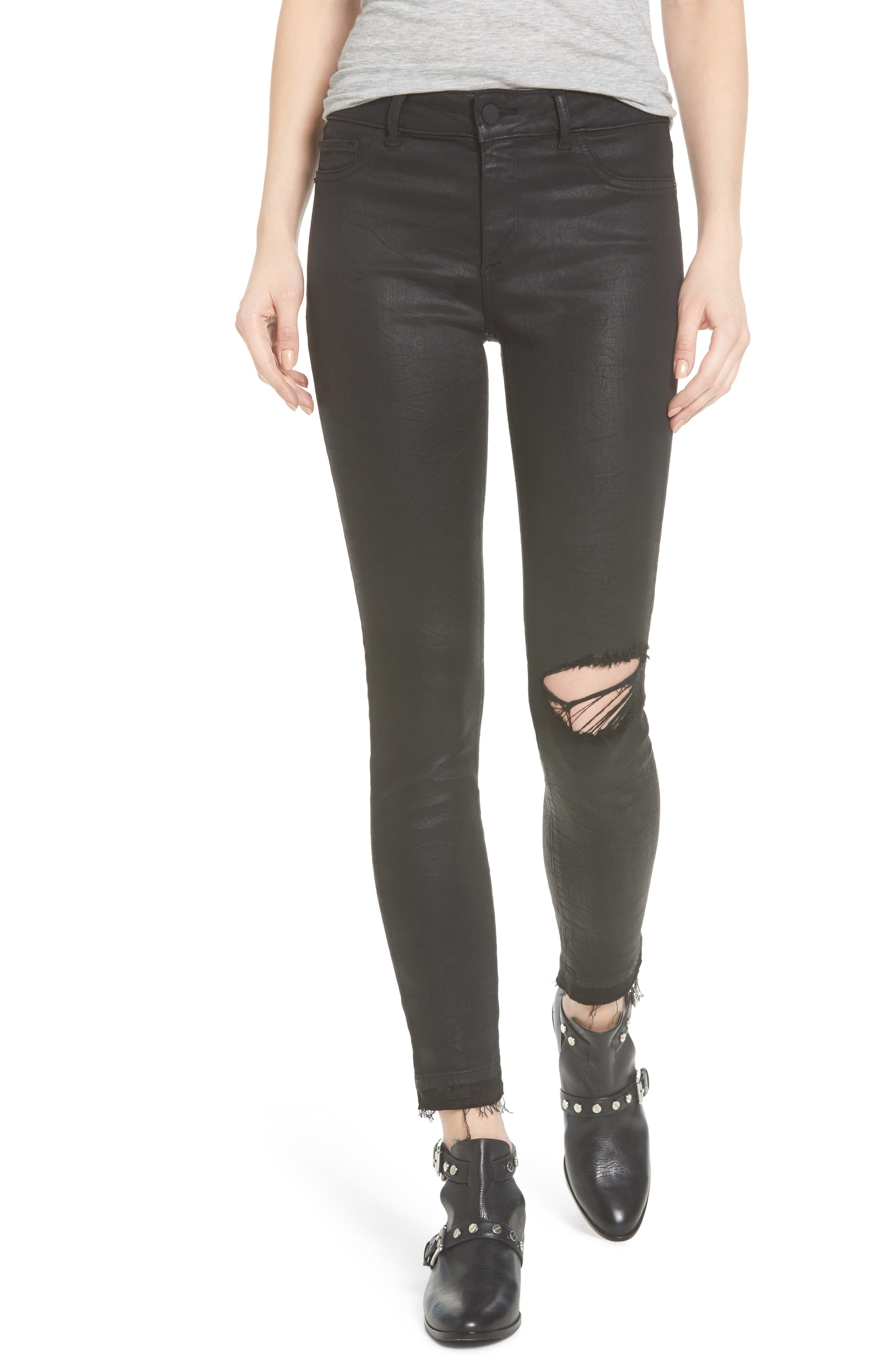 Alternate Image 1 Selected - DL1961 Margaux Instasculpt Ankle Skinny Jeans (Habasu)