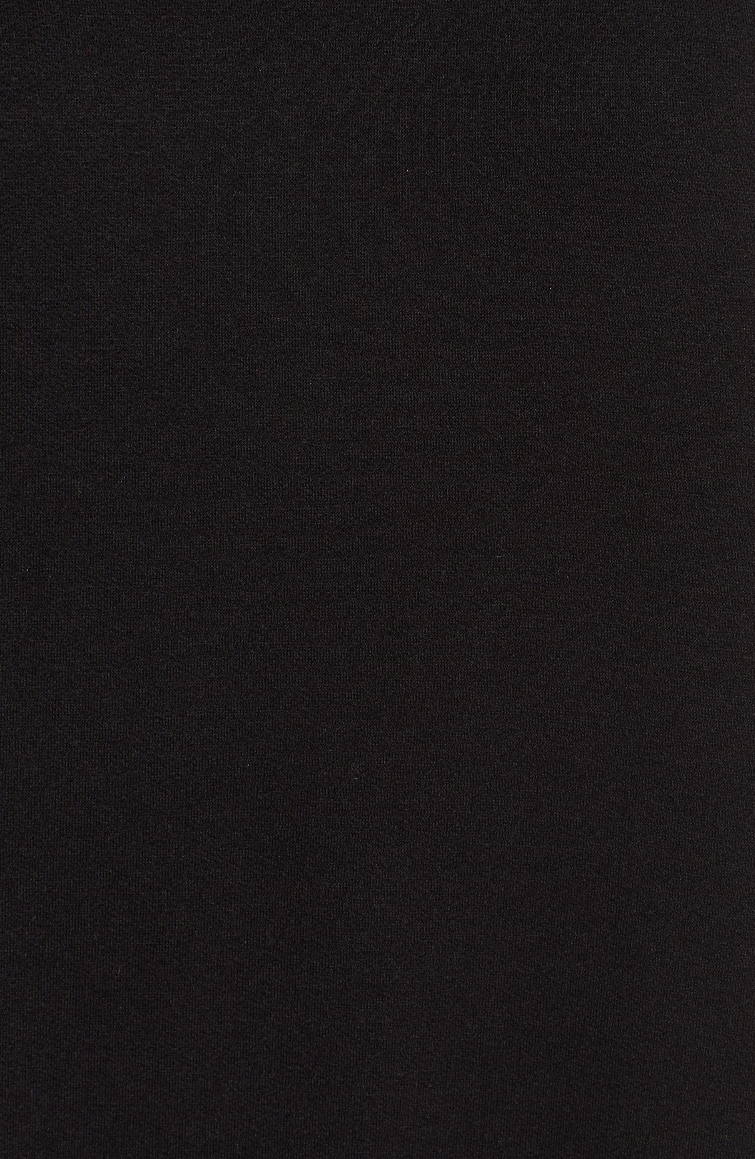 Brushed Jersey Poncho,                             Alternate thumbnail 6, color,                             Black