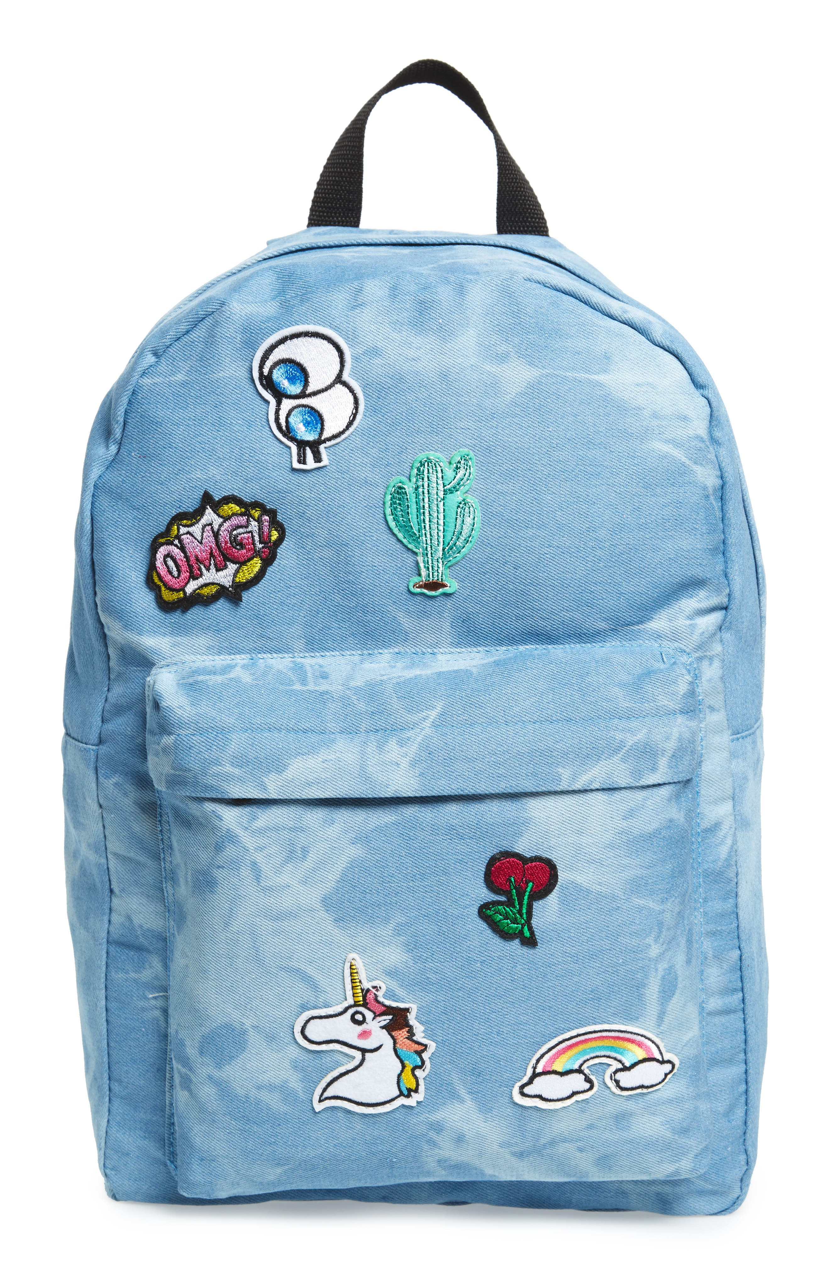 Accessory Collective Tie Dye Backpack,                             Main thumbnail 1, color,                             Blue