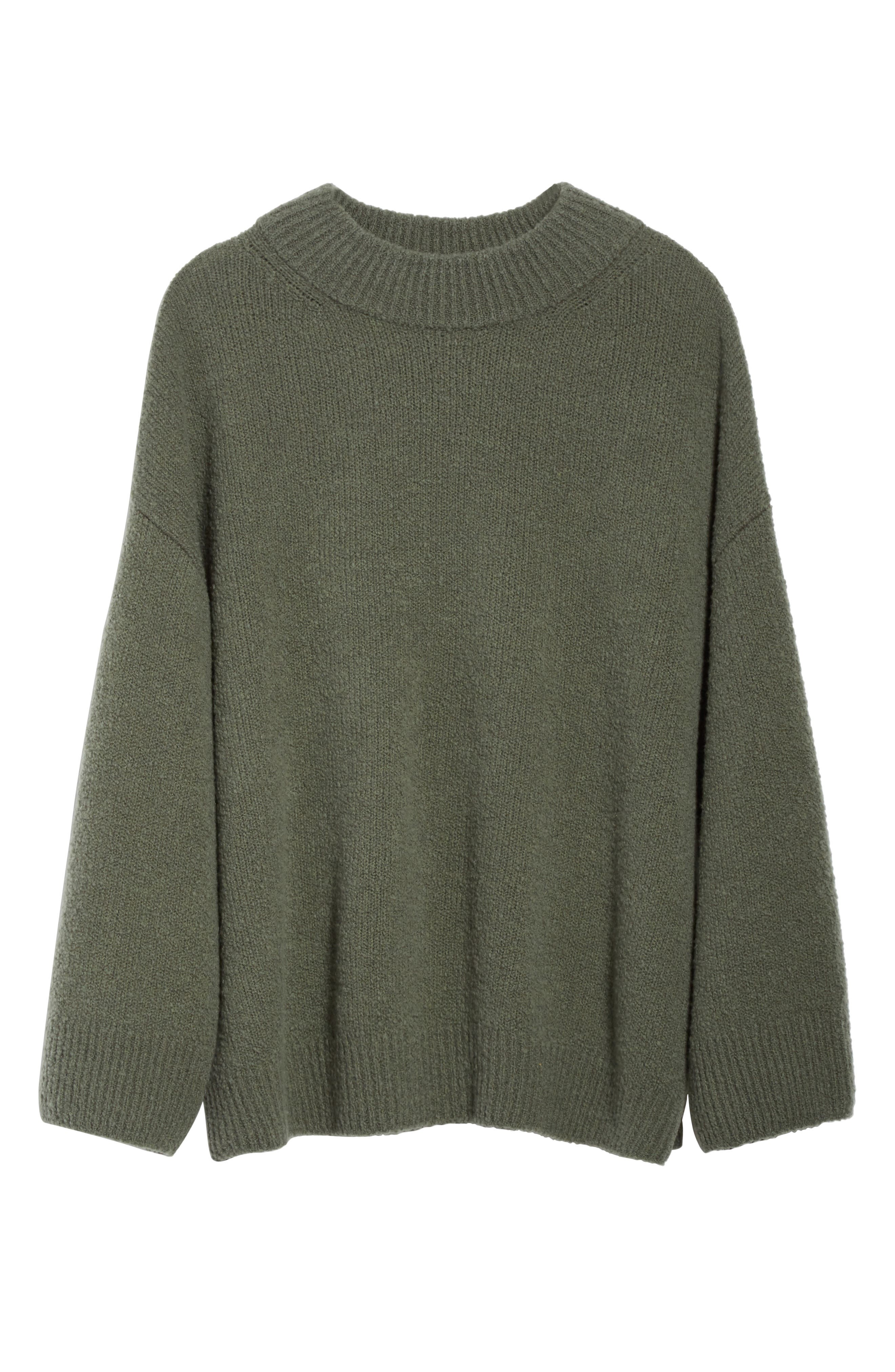 Boxy Knit Pullover,                             Alternate thumbnail 5, color,                             Frog