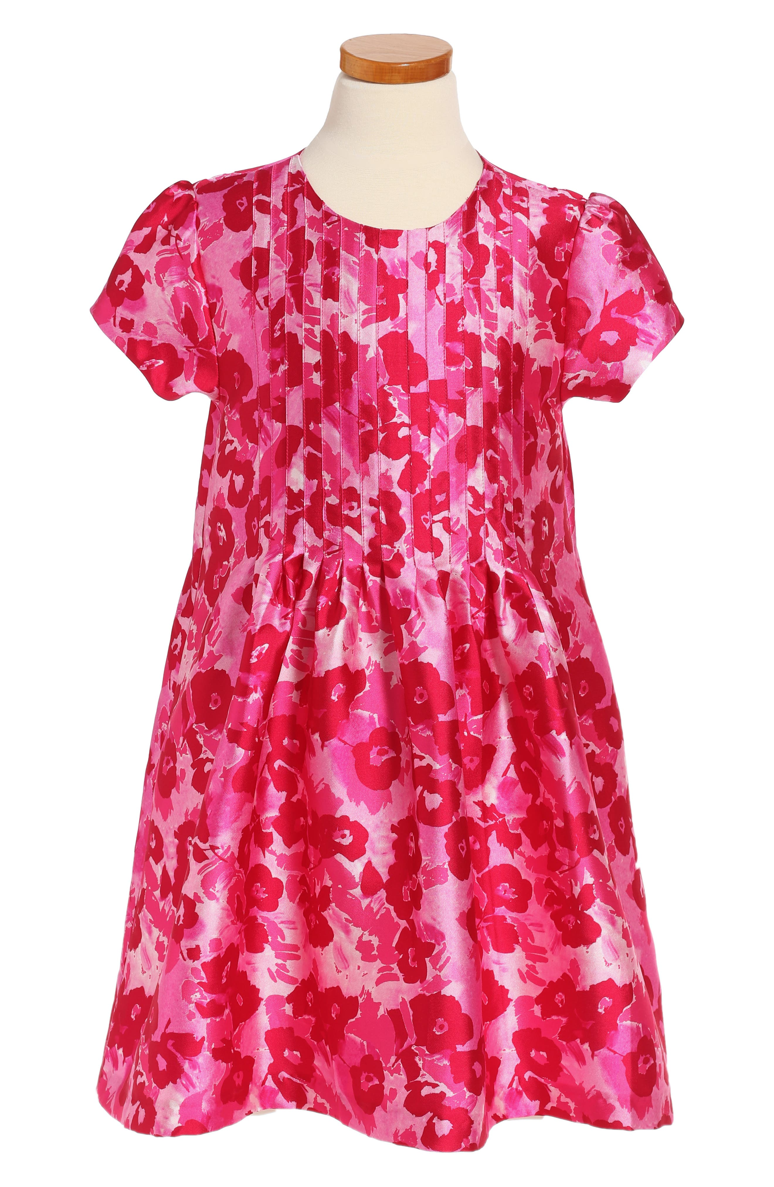 Wild Roses Mikado Dress,                         Main,                         color, Blush Multi
