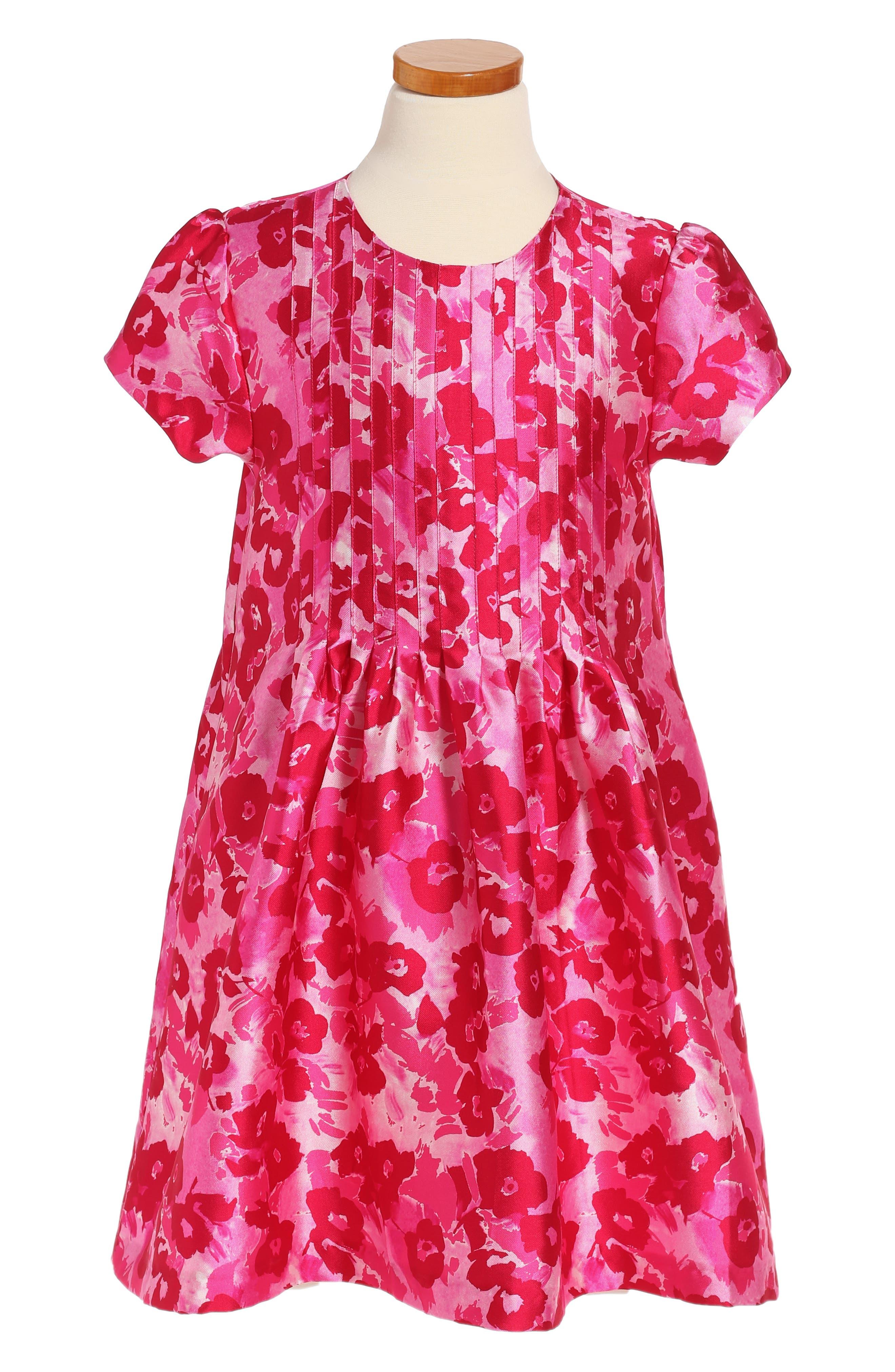 Oscar de la Renta Wild Roses Mikado Dress (Big Girls)