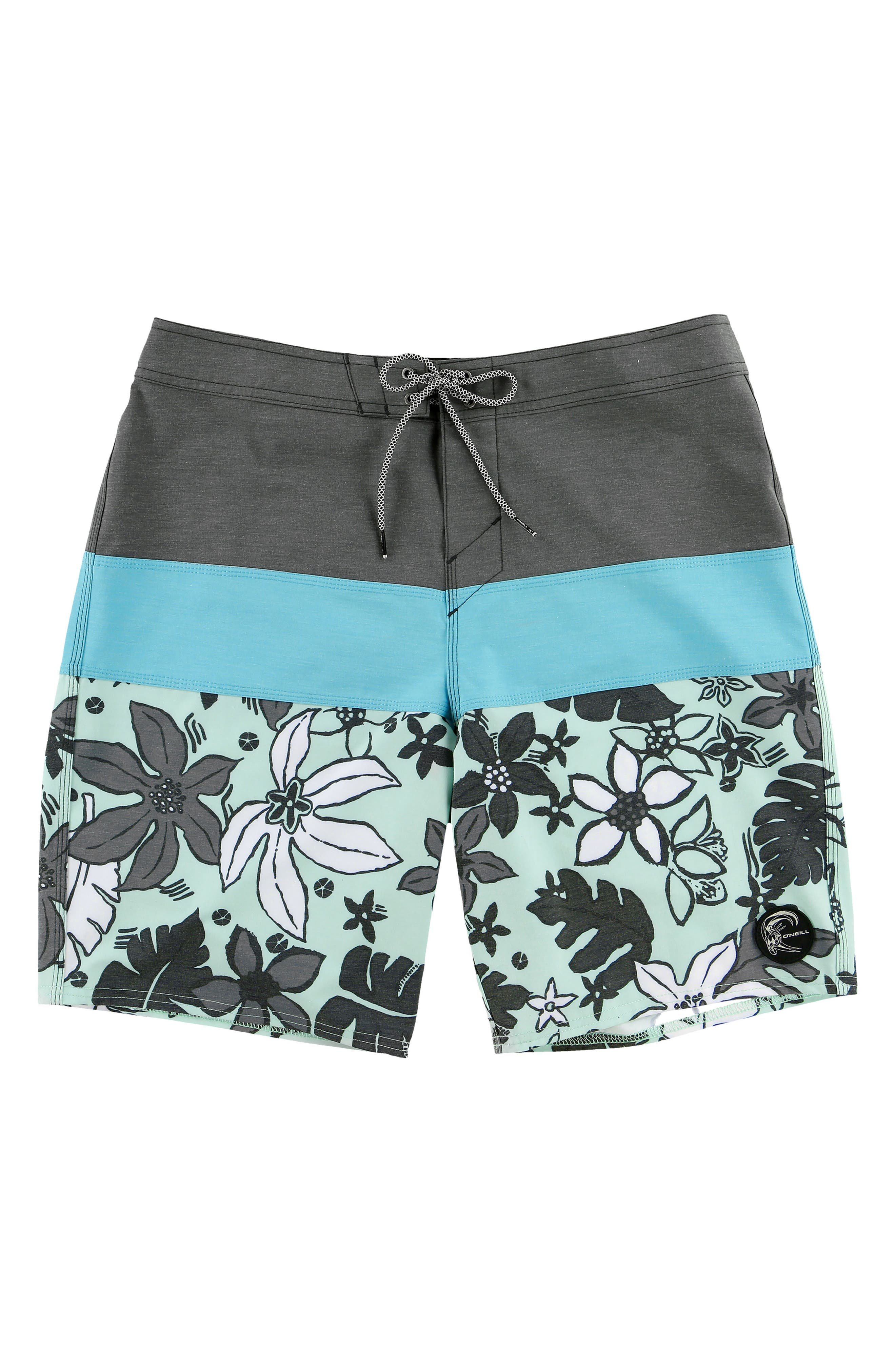 Hyperfreak Lahaina Board Shorts,                         Main,                         color, Aqua