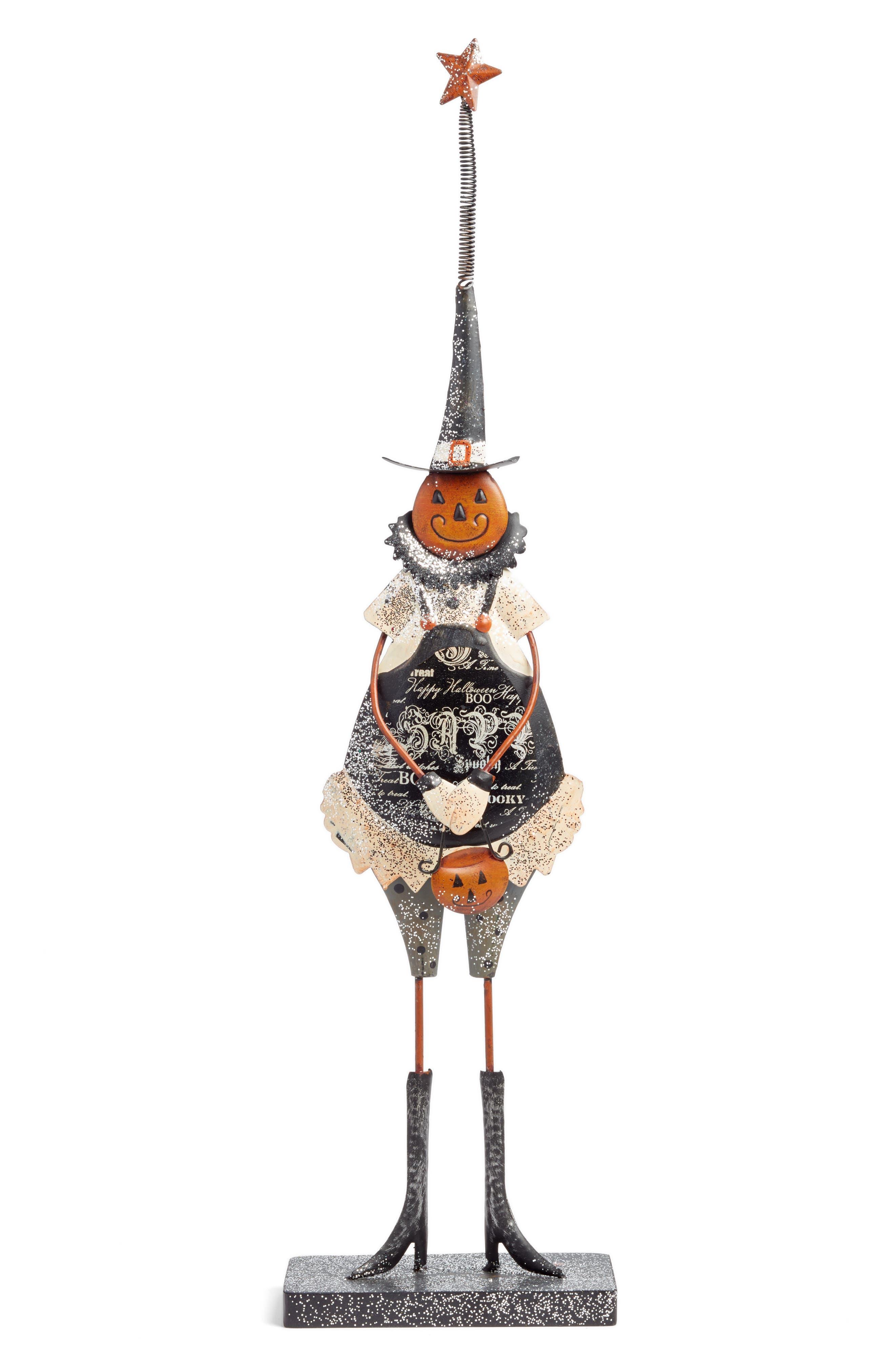 Pumpkin Girl Statue,                         Main,                         color, White
