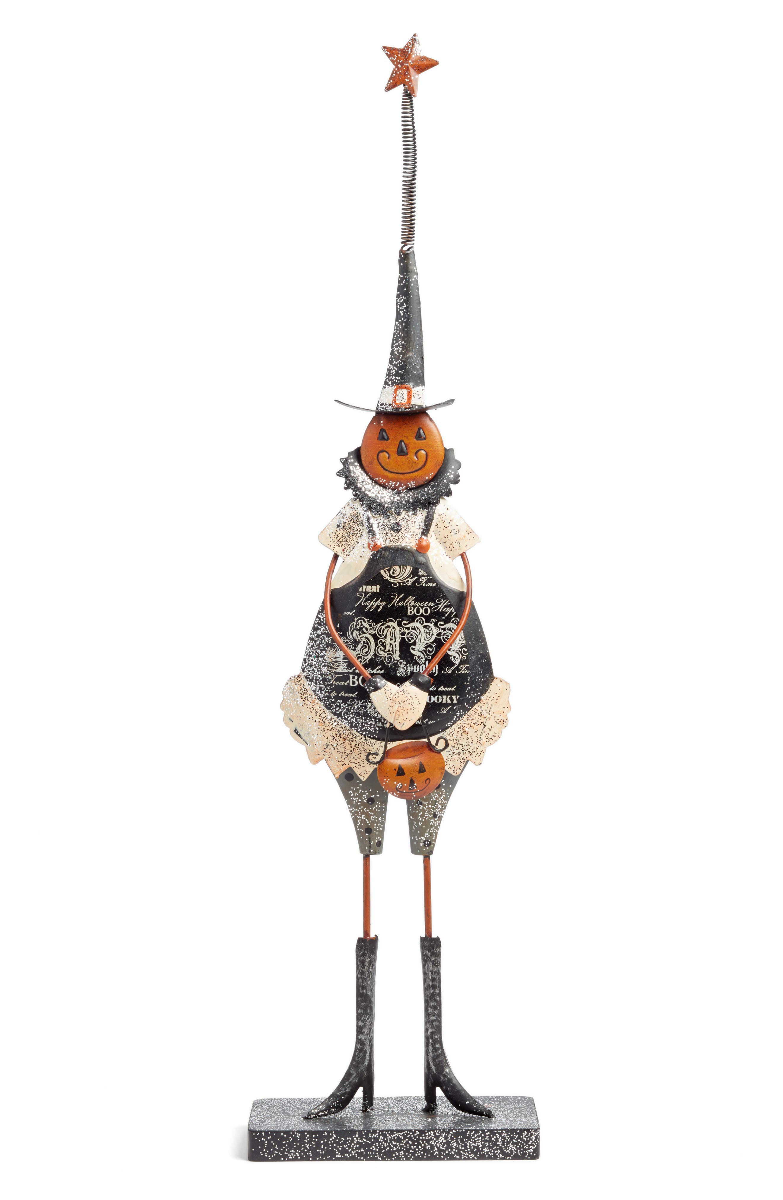 K & K Interiors Pumpkin Girl Statue