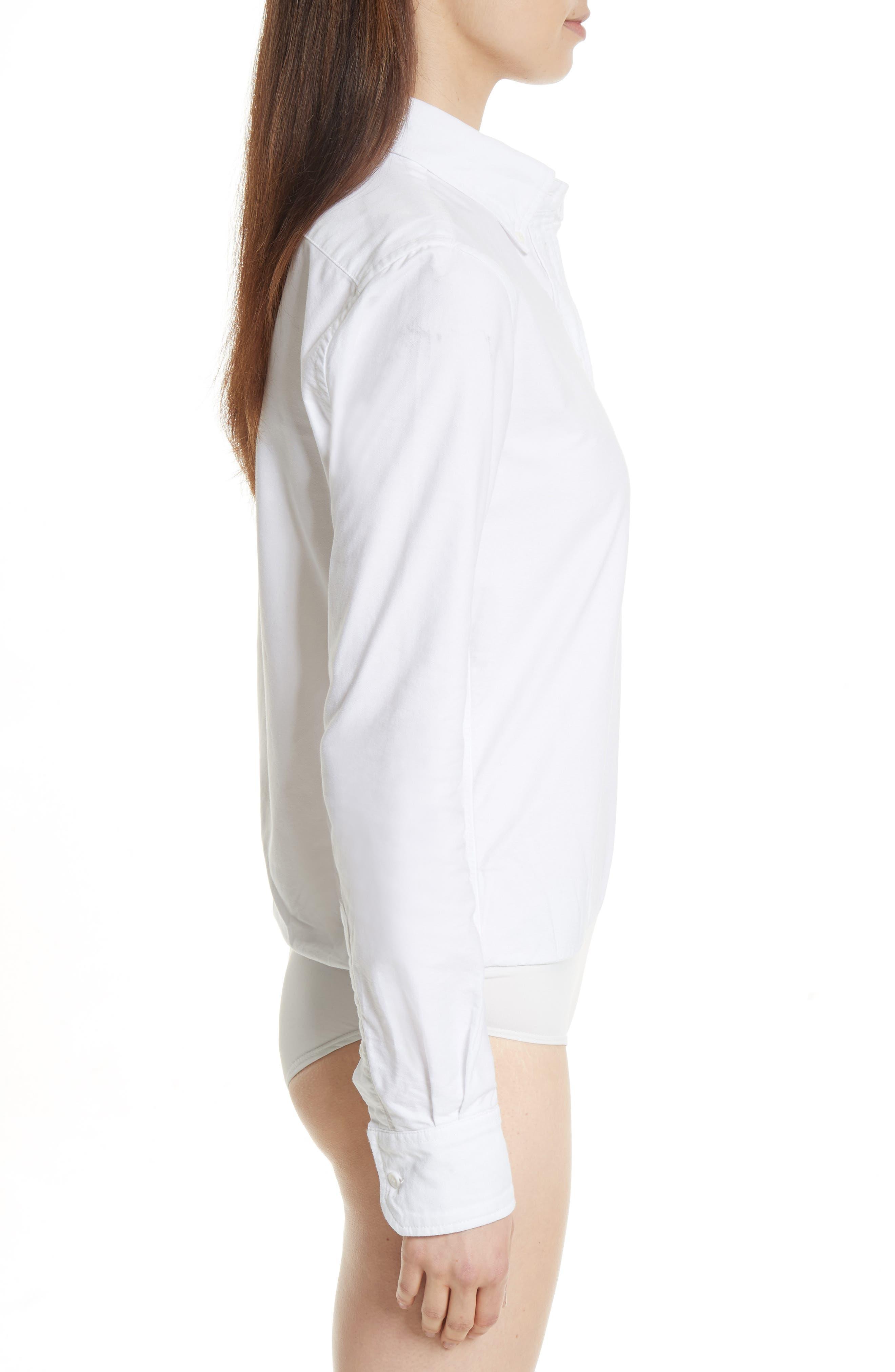 Brigitte Bodysuit,                             Alternate thumbnail 3, color,                             White