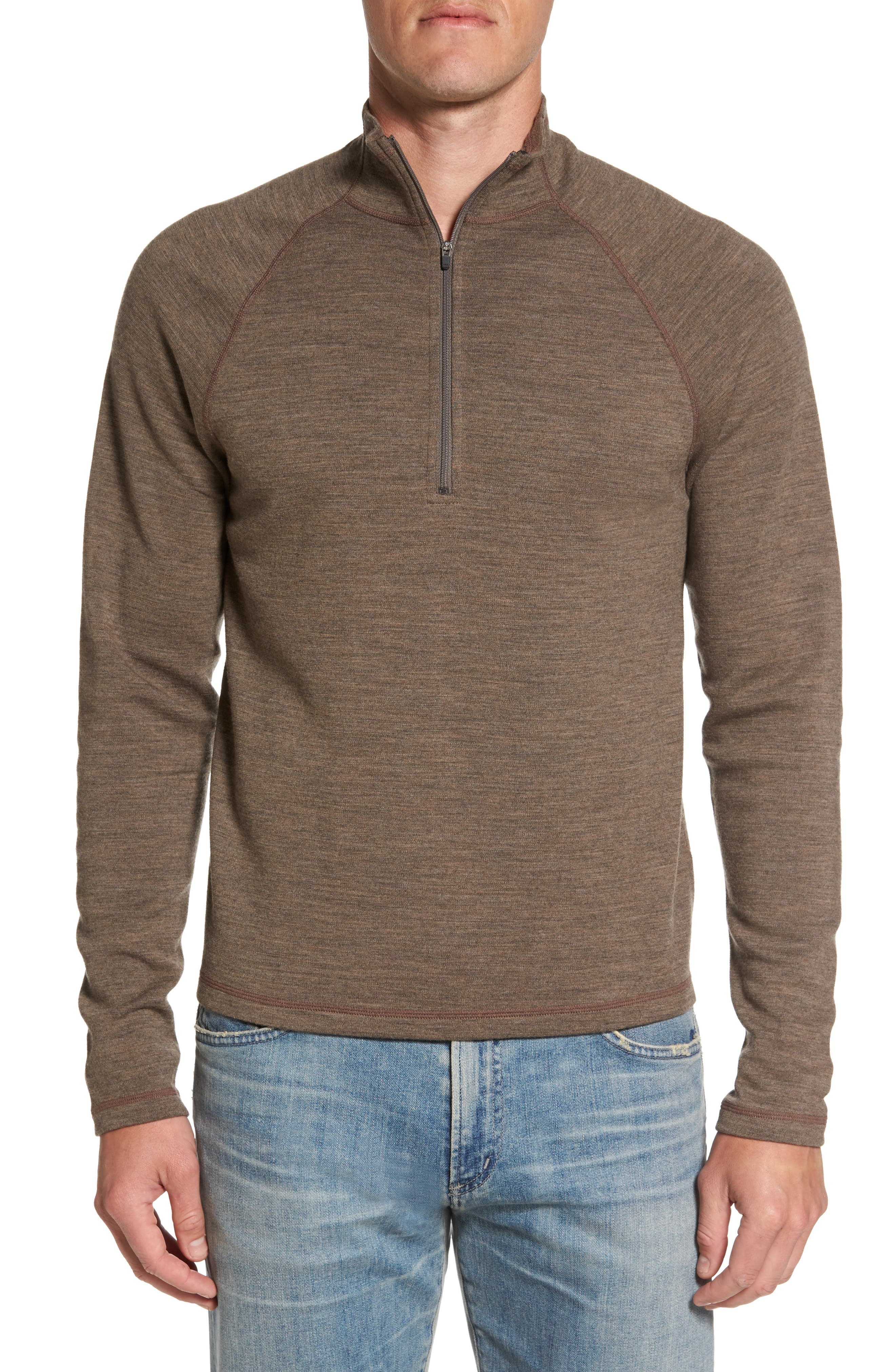 Main Image - ibex 'Shak' Merino Wool Quarter Zip Top