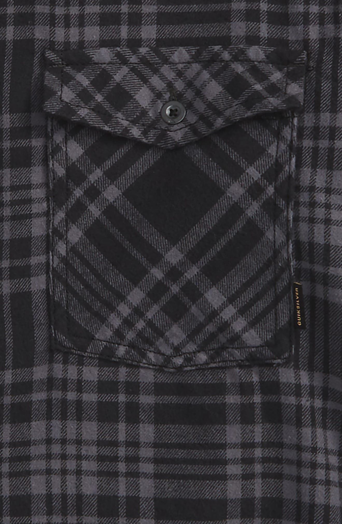 Alternate Image 2  - Quiksilver Hooded Plaid Woven Shirt (Toddler Boys, Little Boys & Big Boys)