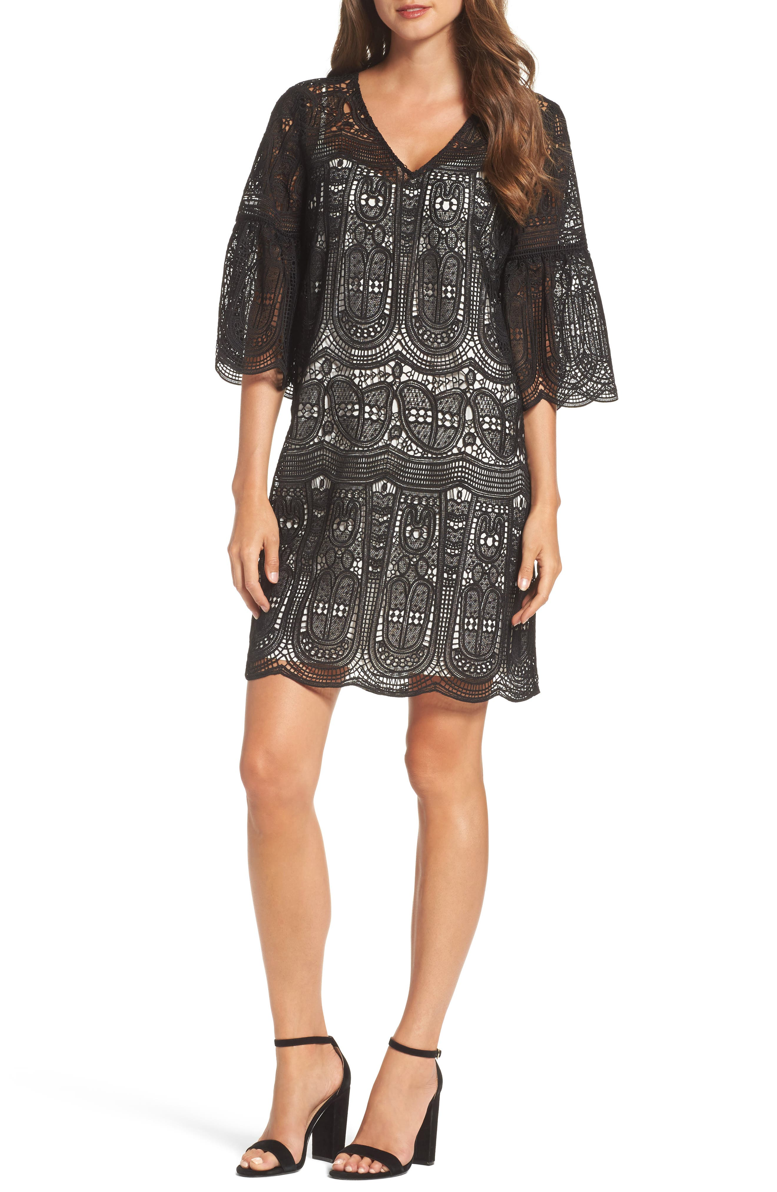 KOBI HALPERIN Gaia Lace Shift Dress