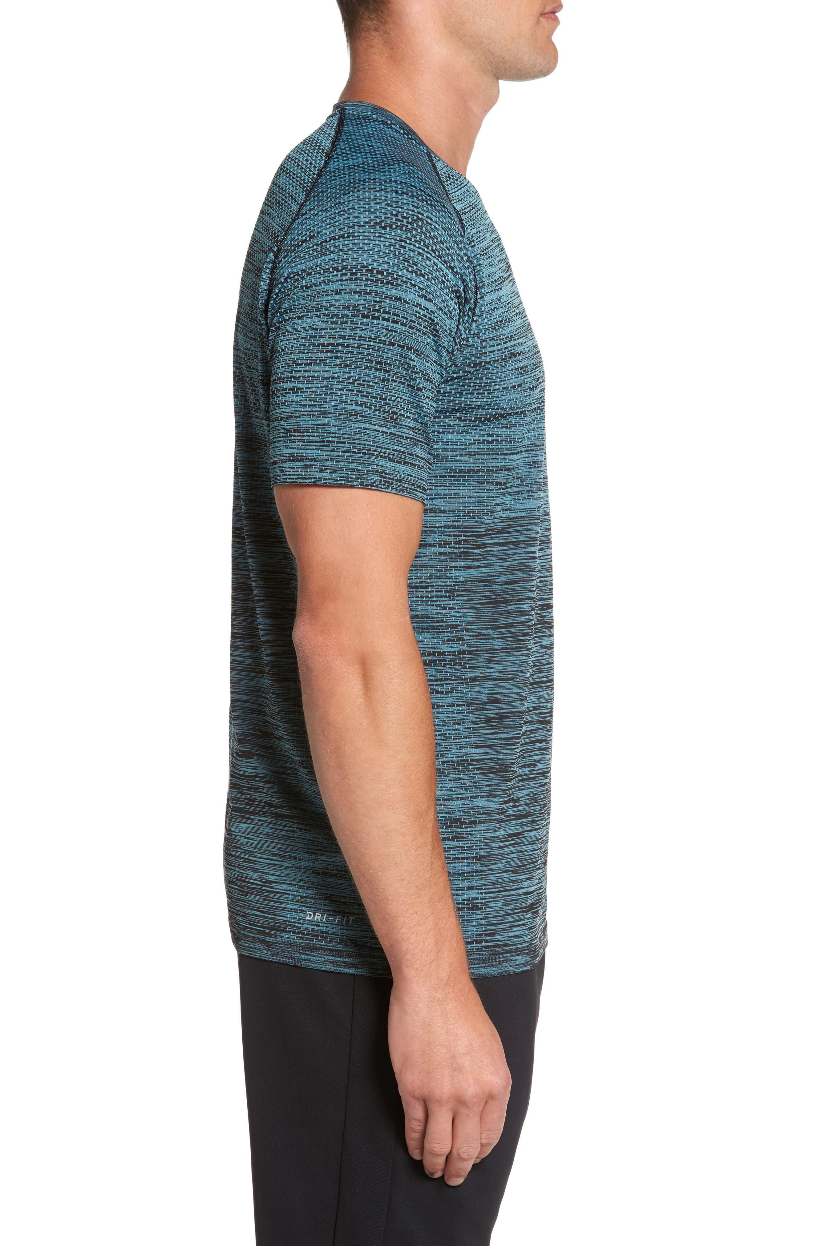 Alternate Image 3  - Nike Men Dry Knit Running T-Shirt