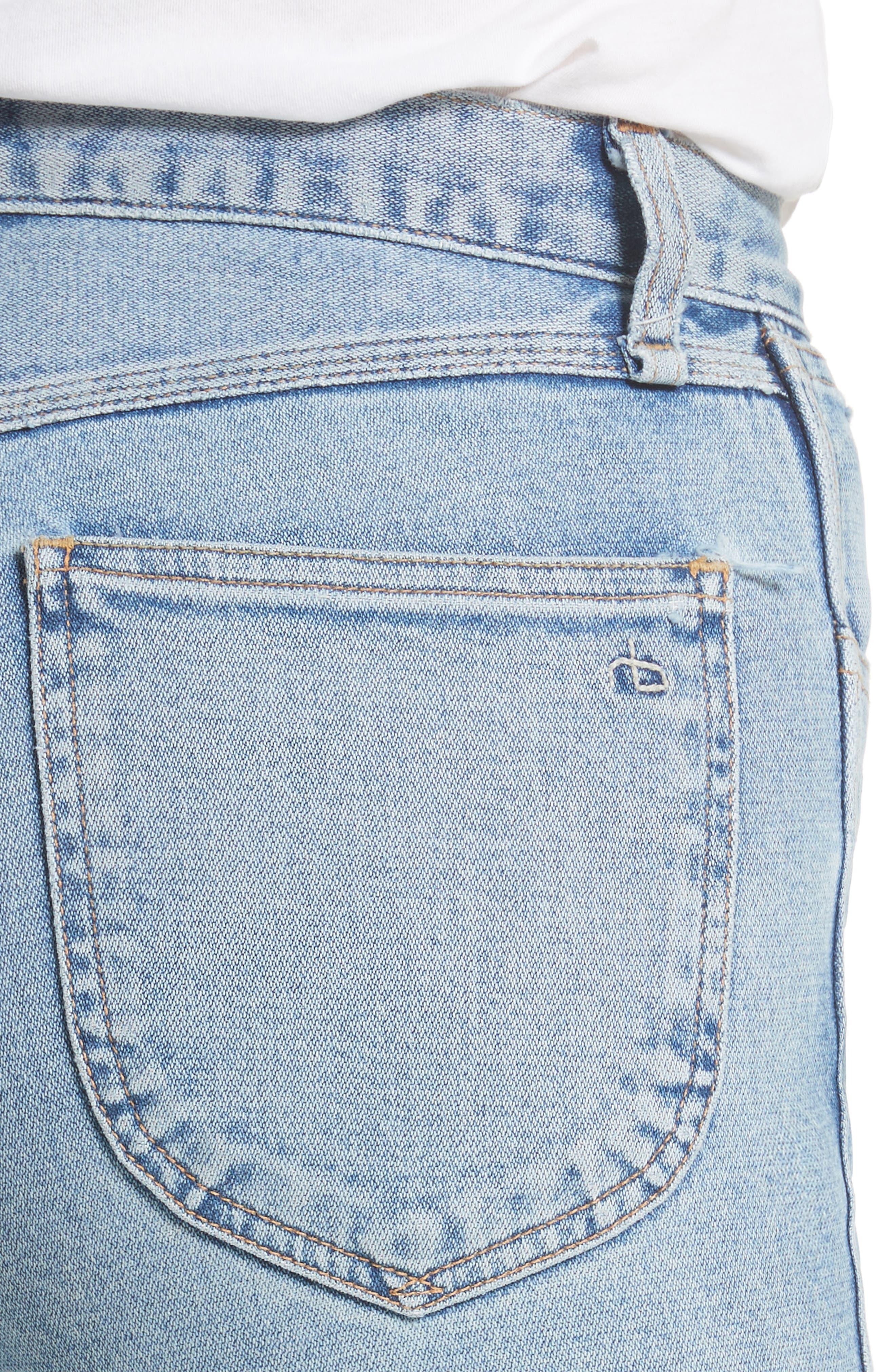 Alternate Image 5  - rag & bone/JEAN Lou High Waist Skinny Jeans (Hotbird)