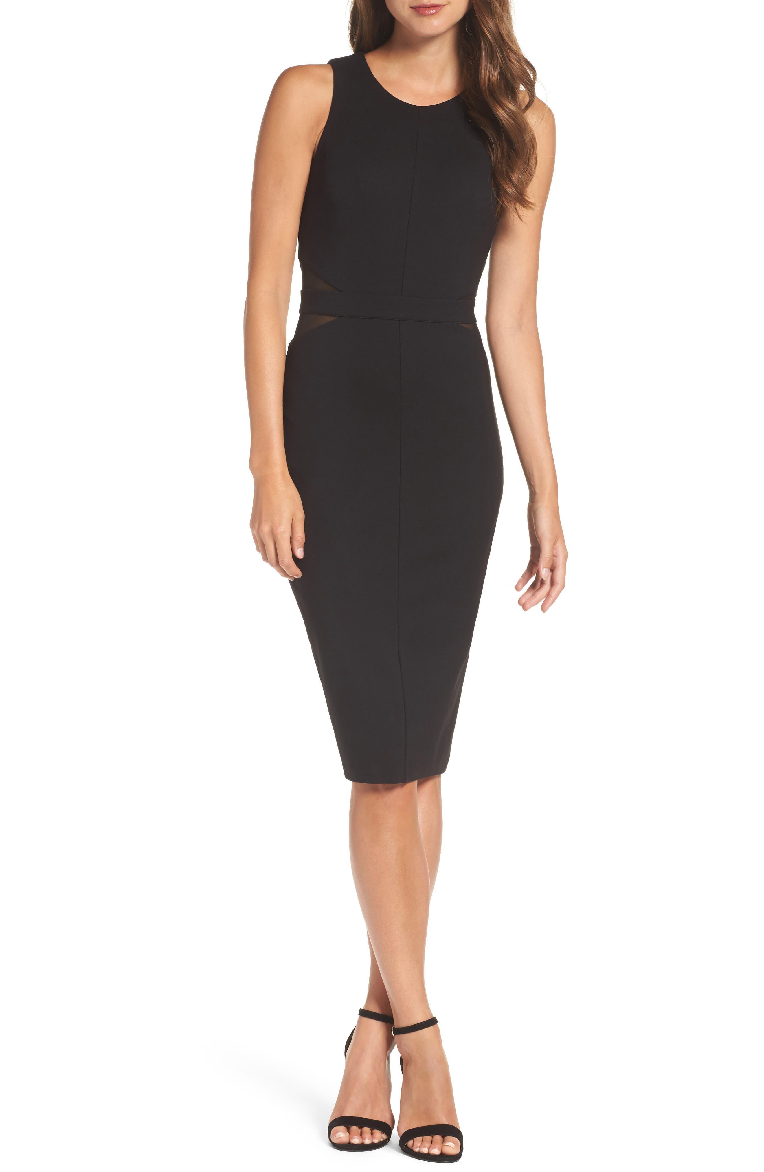 Power Moves Sheath Dress,                         Main,                         color, Black
