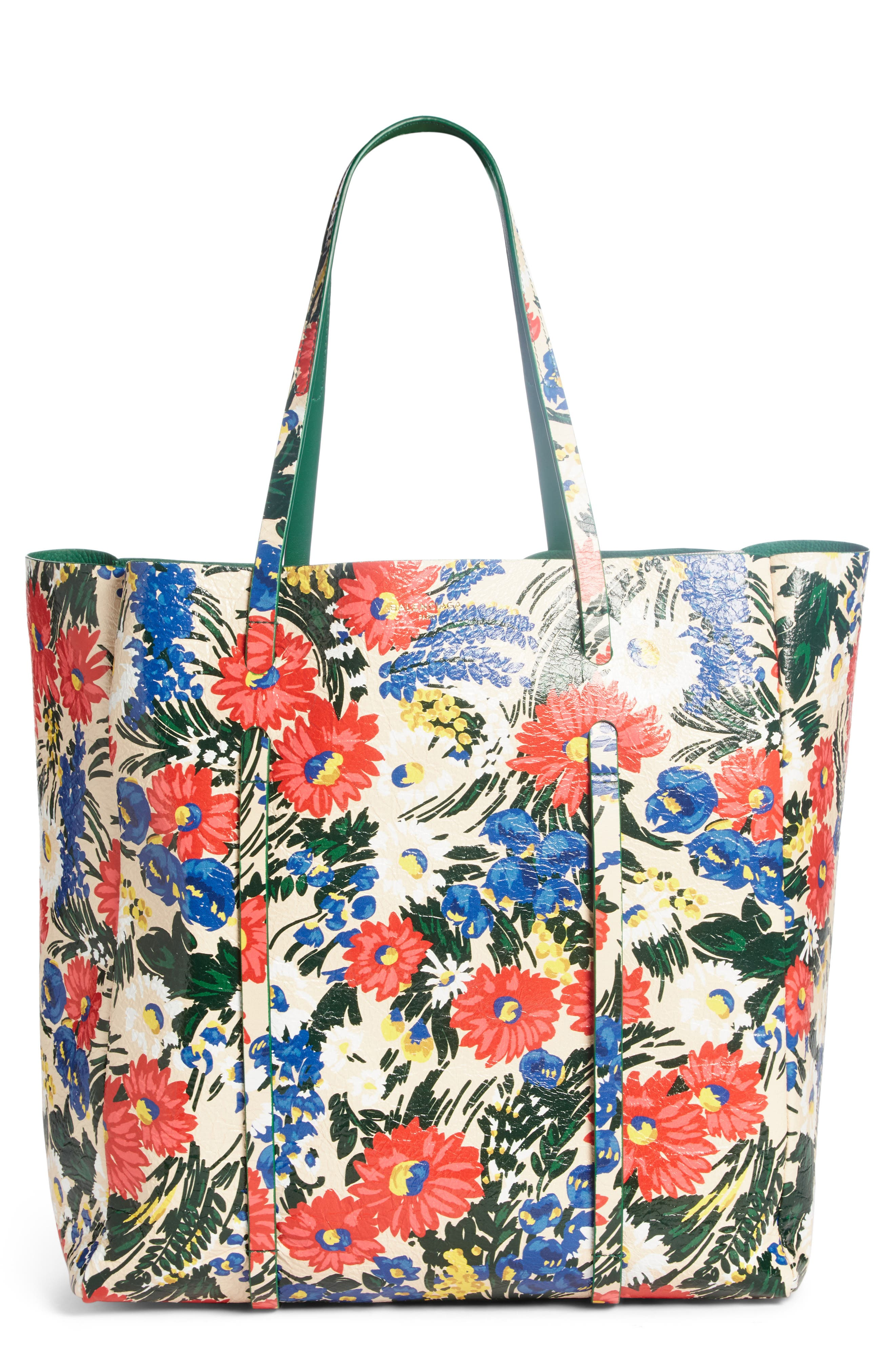 Balenciaga Medium Everyday Floral Leather Tote