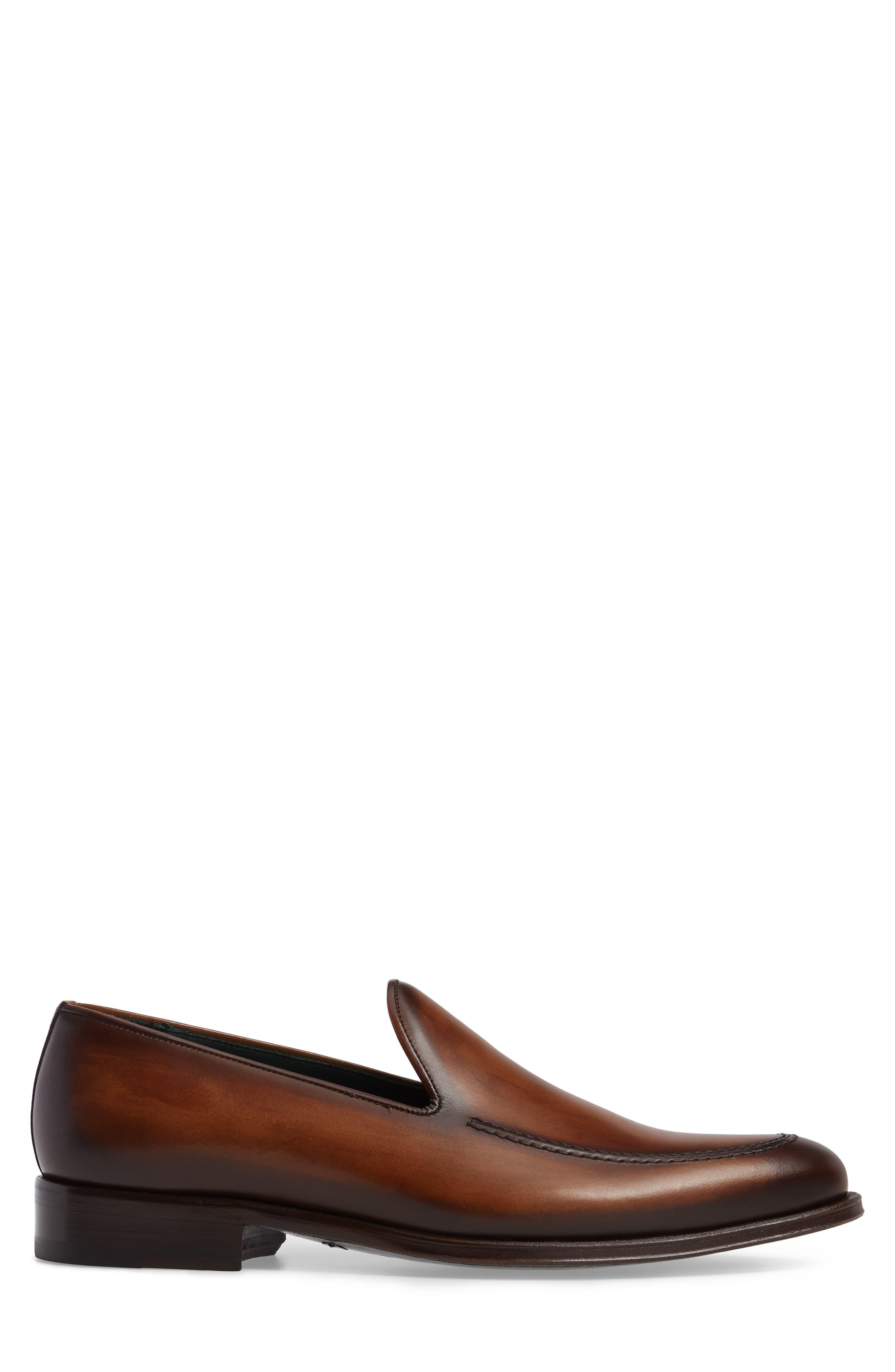 Rodin Apron Toe Loafer,                             Alternate thumbnail 3, color,                             Cognac Leather