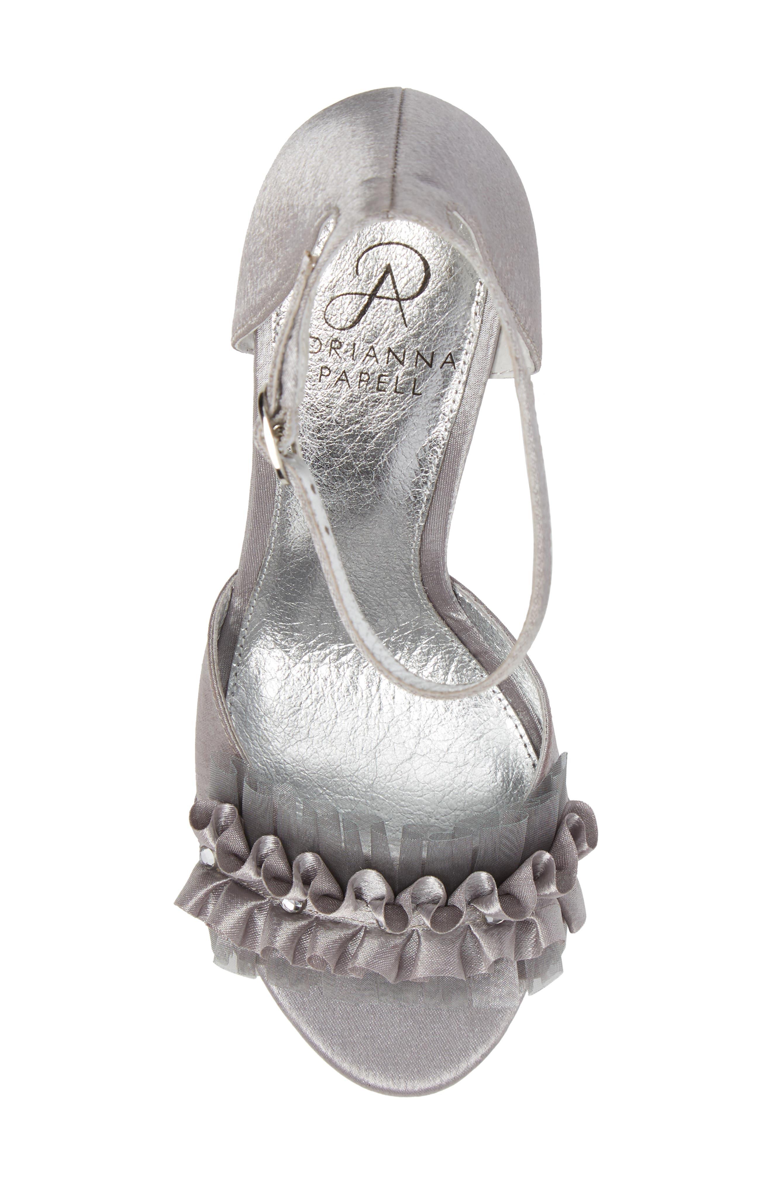 Alternate Image 5  - Adrianna Papell Alcott Chiffon Ruffle Sandal (Women)