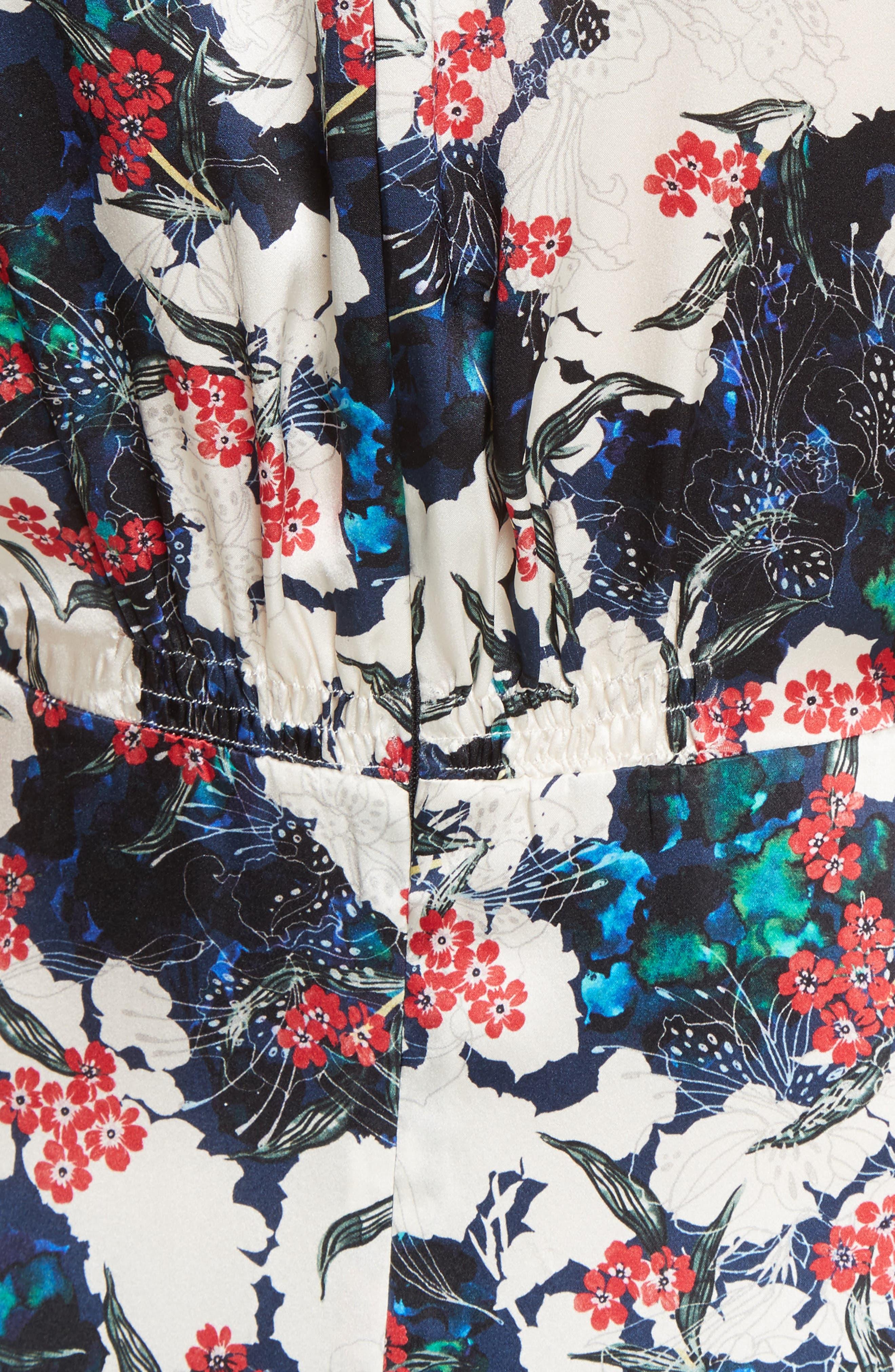 Alternate Image 5  - SALONI Lea Silk Midi Dress