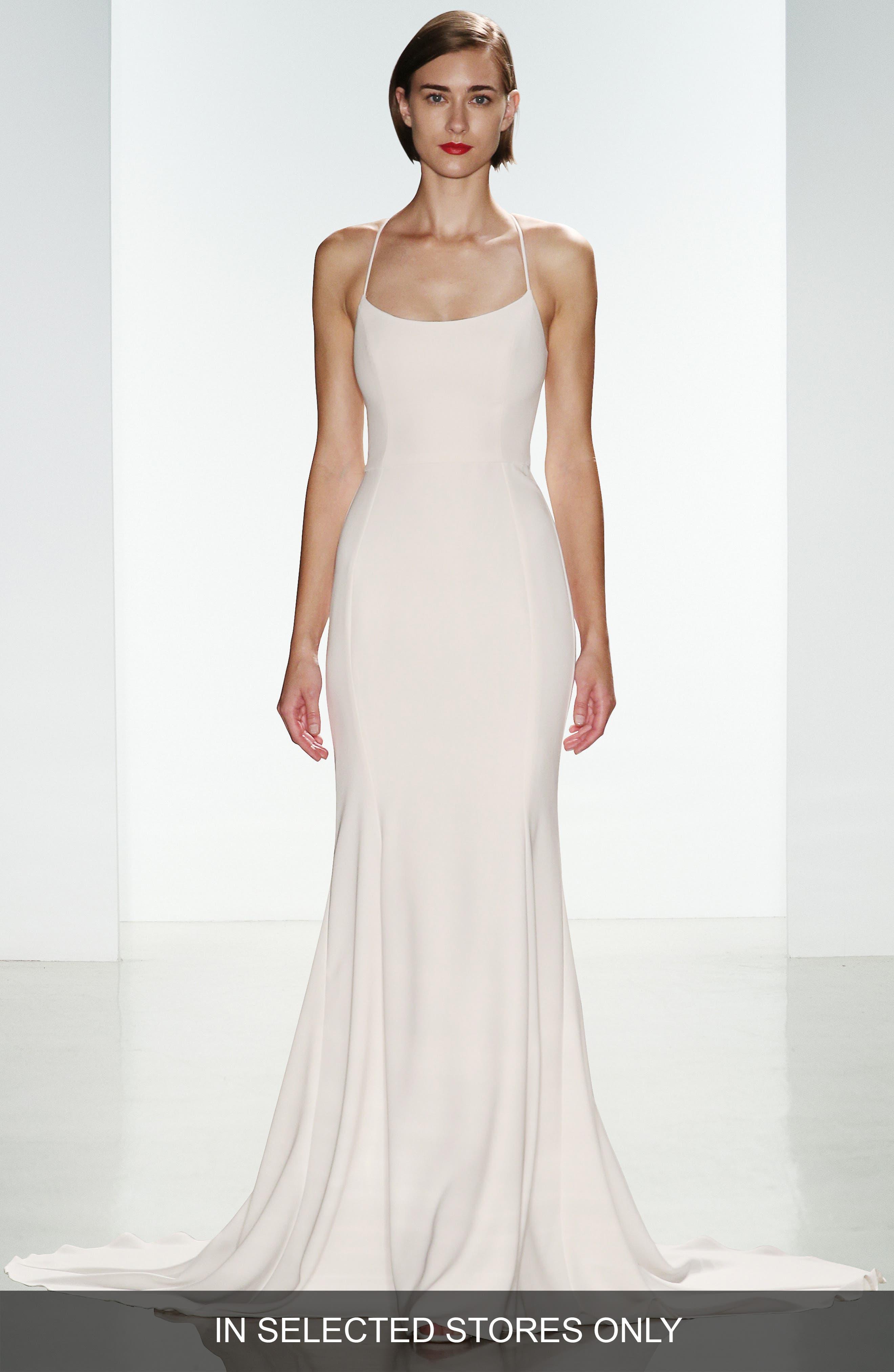 nouvelle AMSALE Audrey Crepe Racerback Gown (Regular & Plus Size)