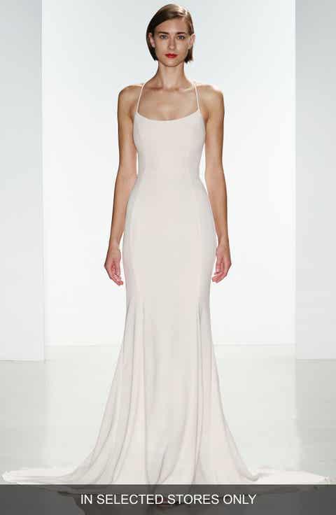 Womens nouvelle amsale wedding dresses bridal gowns nordstrom nouvelle amsale audrey crepe racerback gown regular plus size junglespirit Image collections