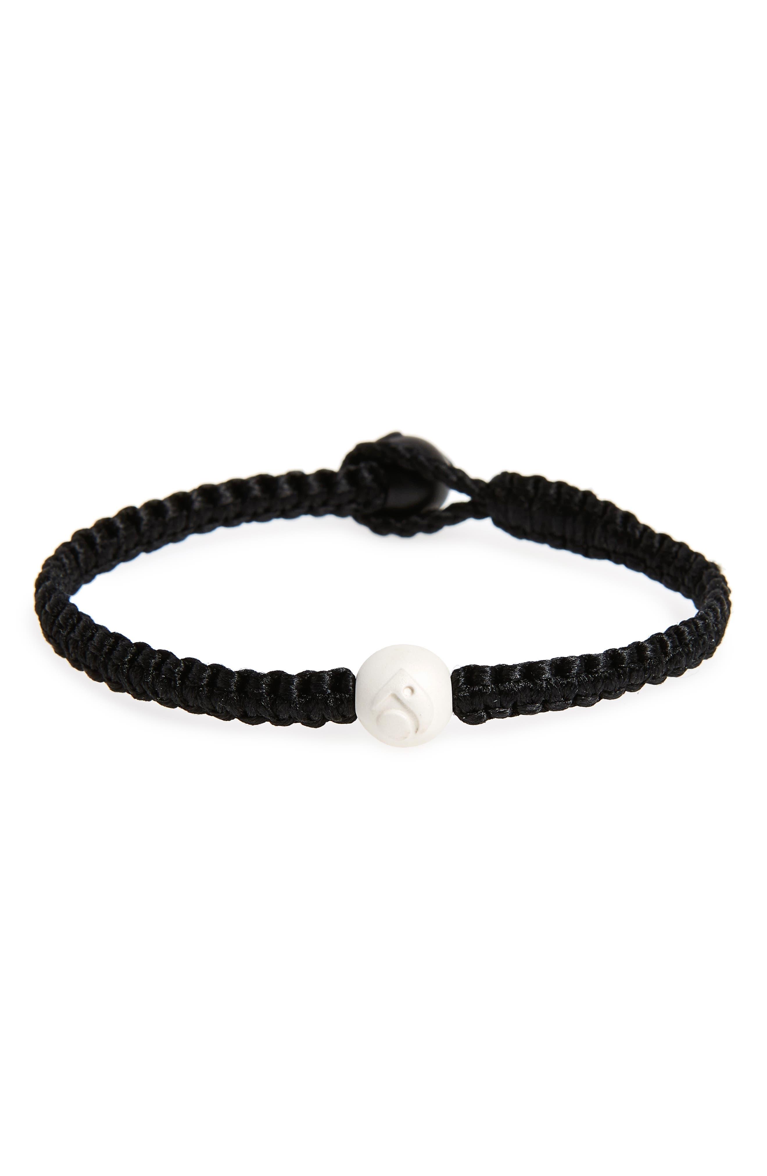 Single Wrap Bracelet,                         Main,                         color, Black