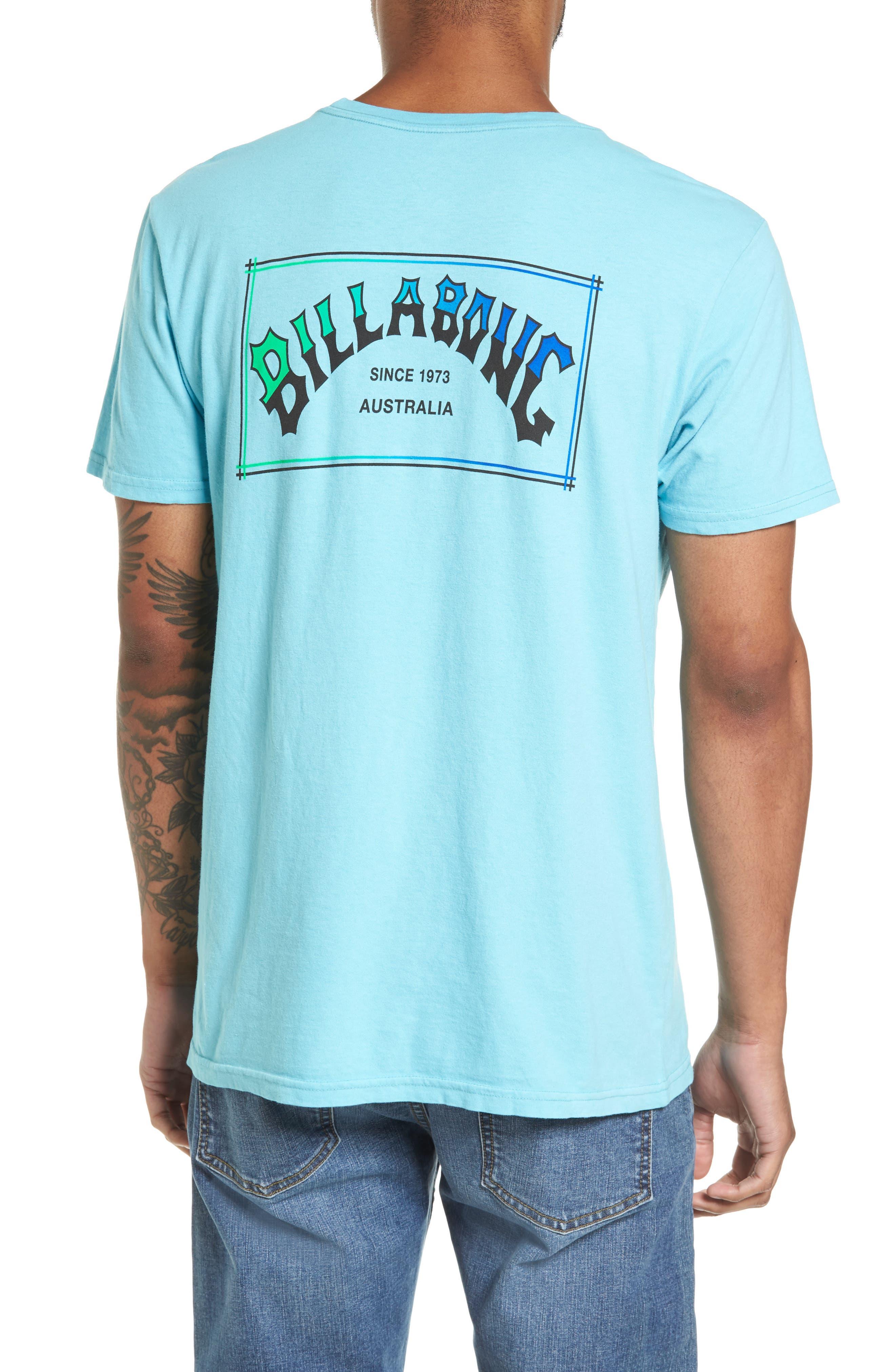 Boxed Arch T-Shirt,                             Alternate thumbnail 2, color,                             Aqua