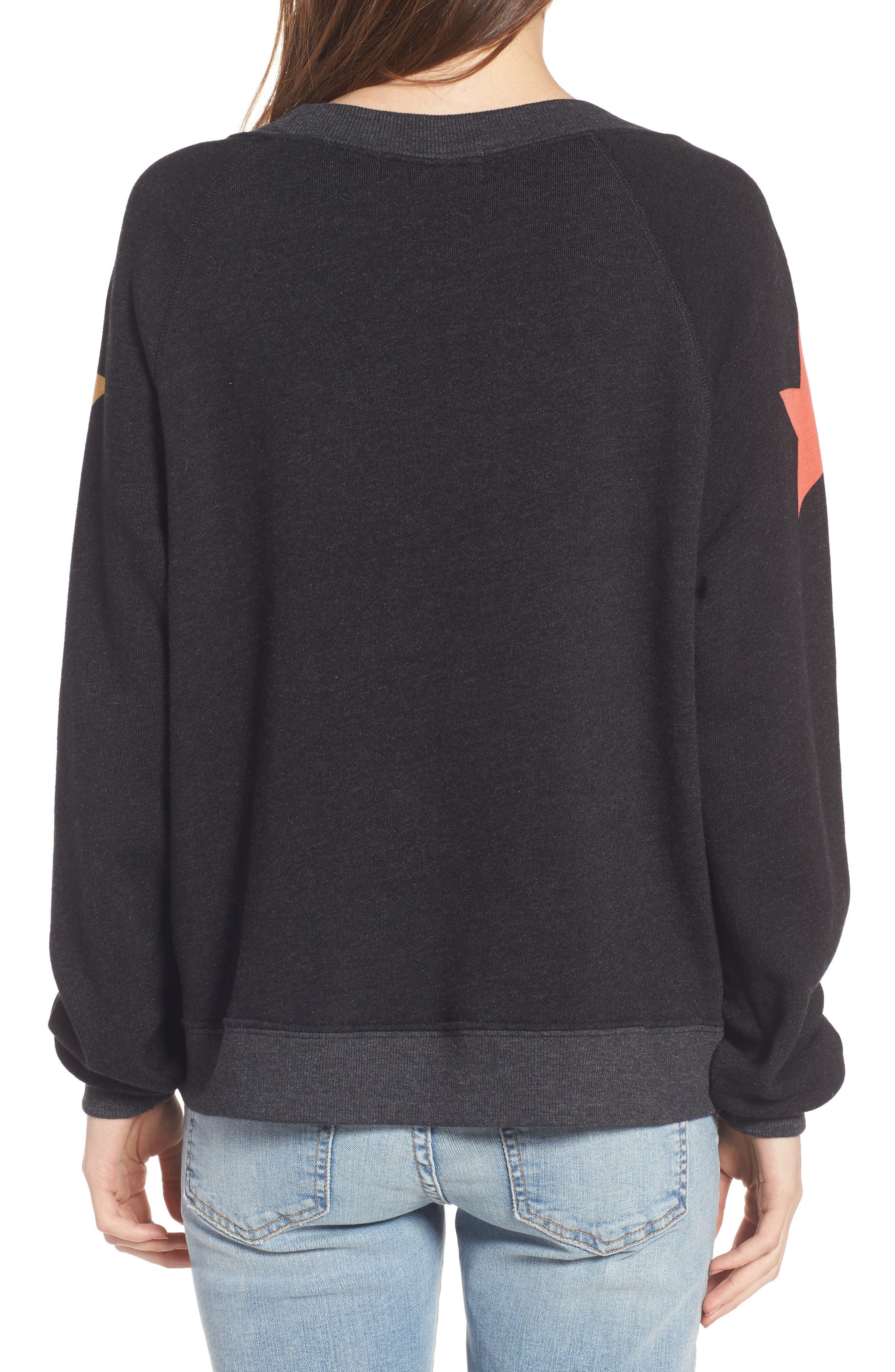Arcade Stars Sommers Sweatshirt,                             Alternate thumbnail 3, color,                             Heathered Black