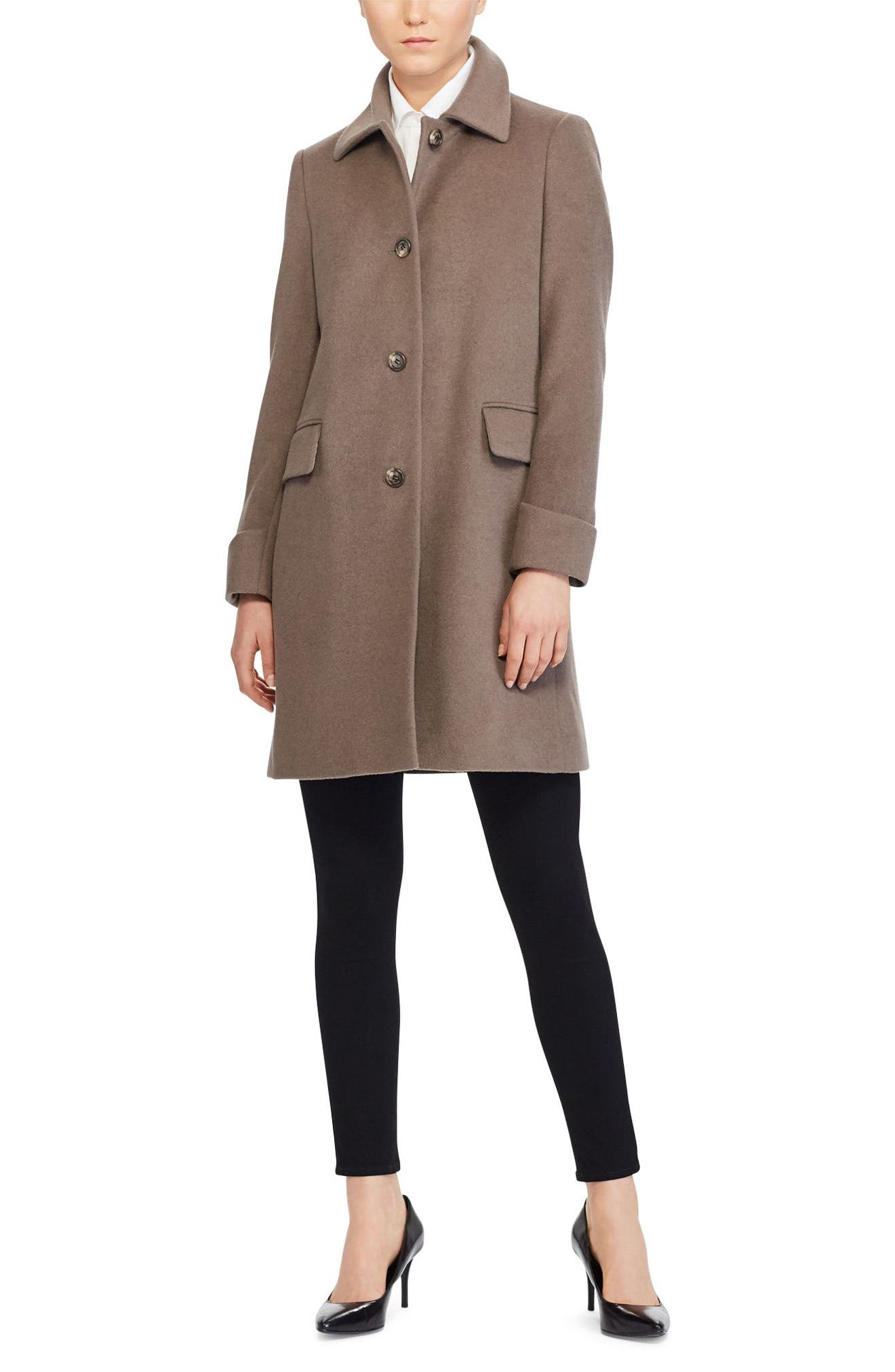 Alternate Image 2  - Lauren Ralph Lauren Wool Blend Coat