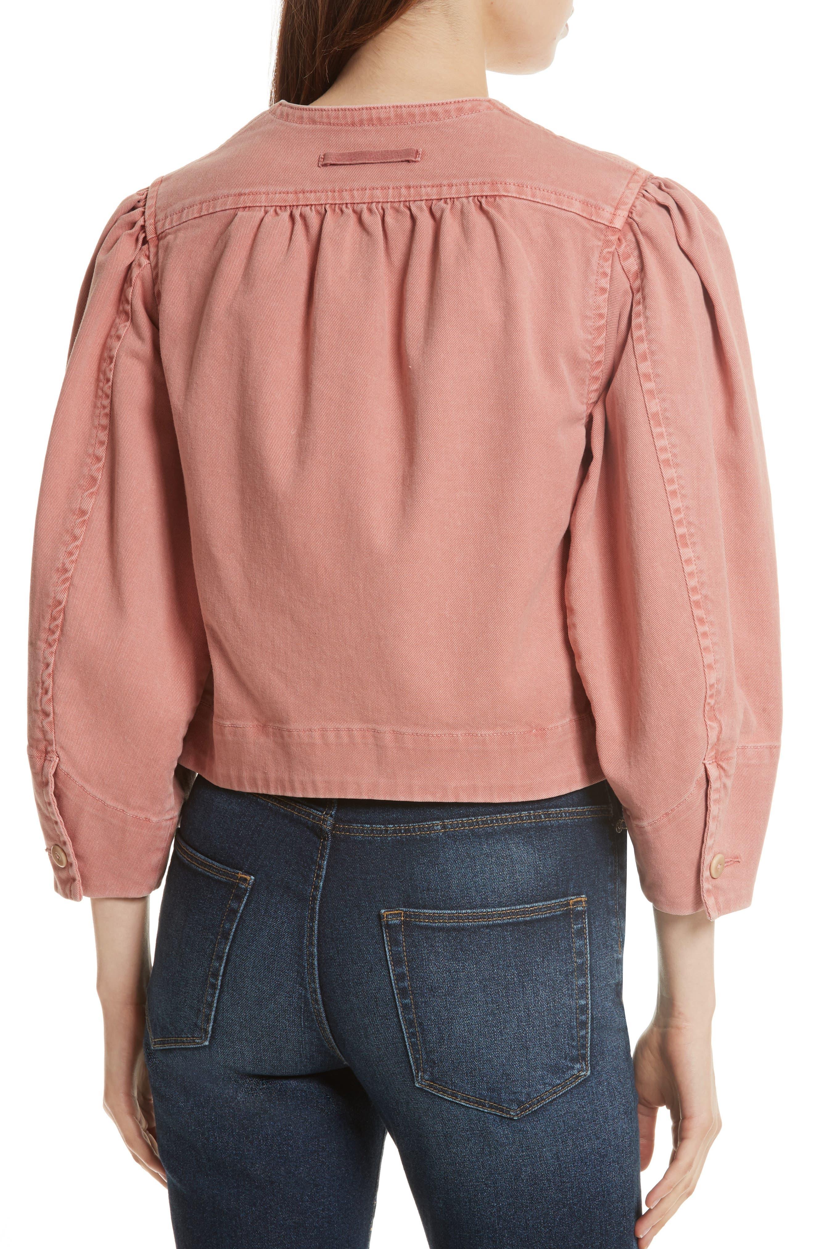 Alternate Image 2  - La Vie Rebecca Taylor Garment Dyed Twill Jacket