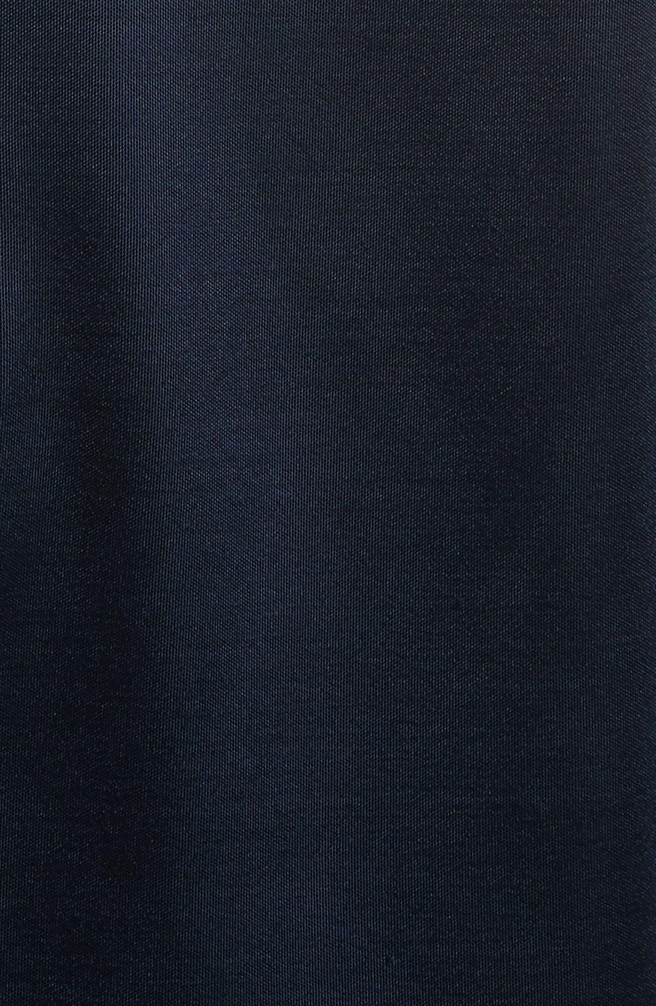 Asymmetrical Cowl Neck Pencil Dress,                             Alternate thumbnail 5, color,                             Midnight