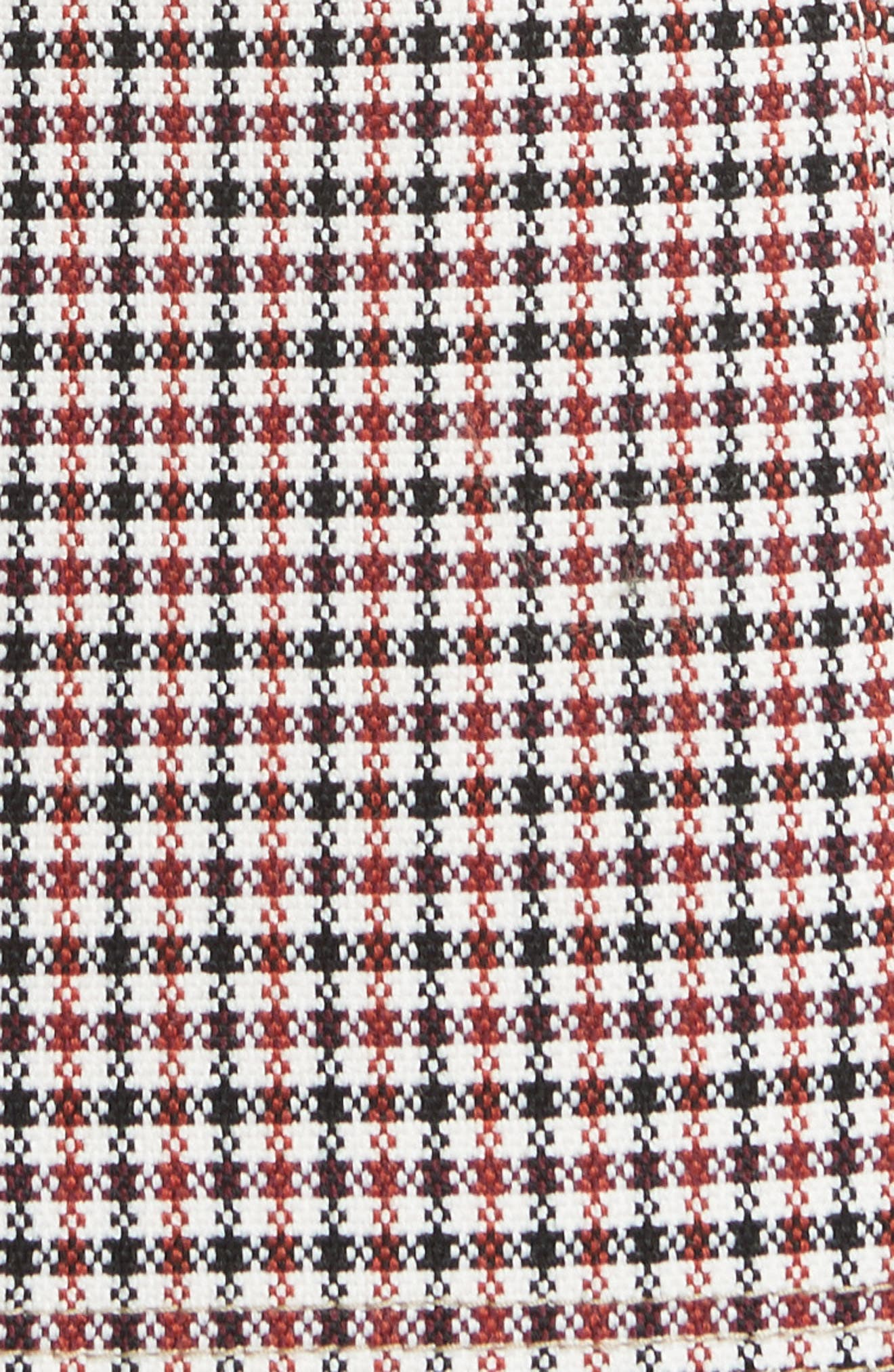 Check Wool Blend Shrug,                             Alternate thumbnail 6, color,                             Havana