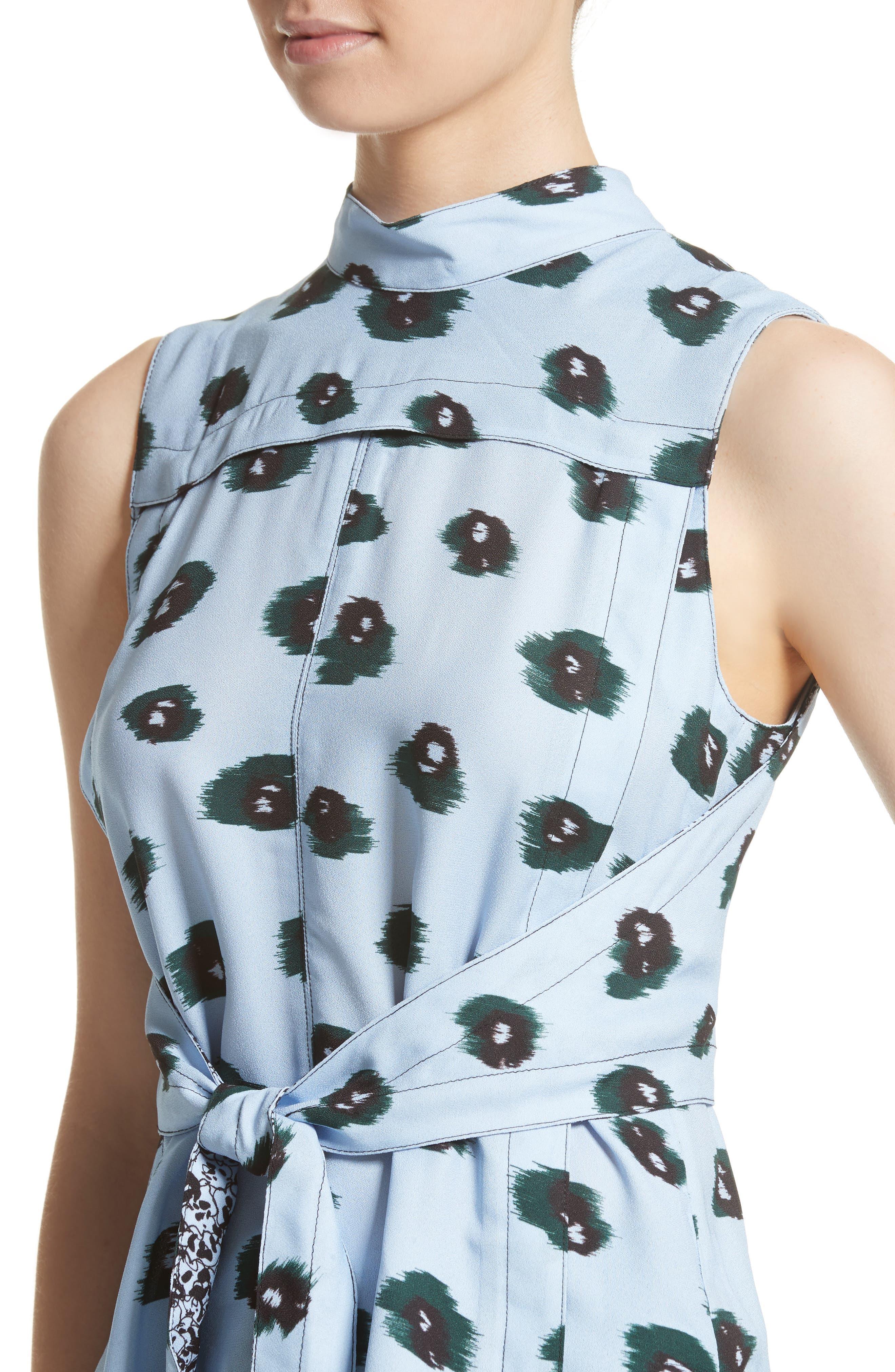 Alternate Image 4  - Proenza Schouler Print Front Tie Top